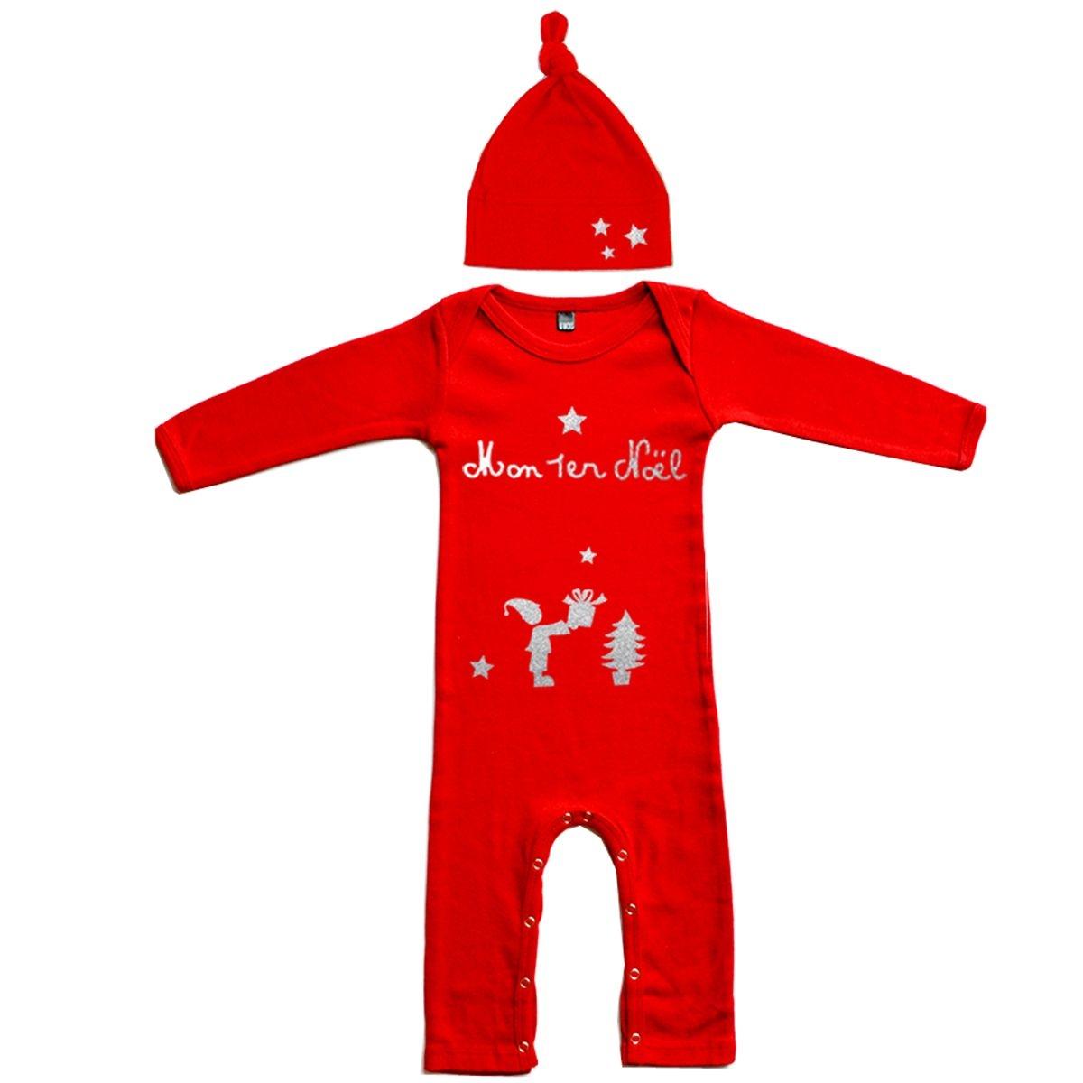 Kit Pyjama bébé Noël en coton manche longue