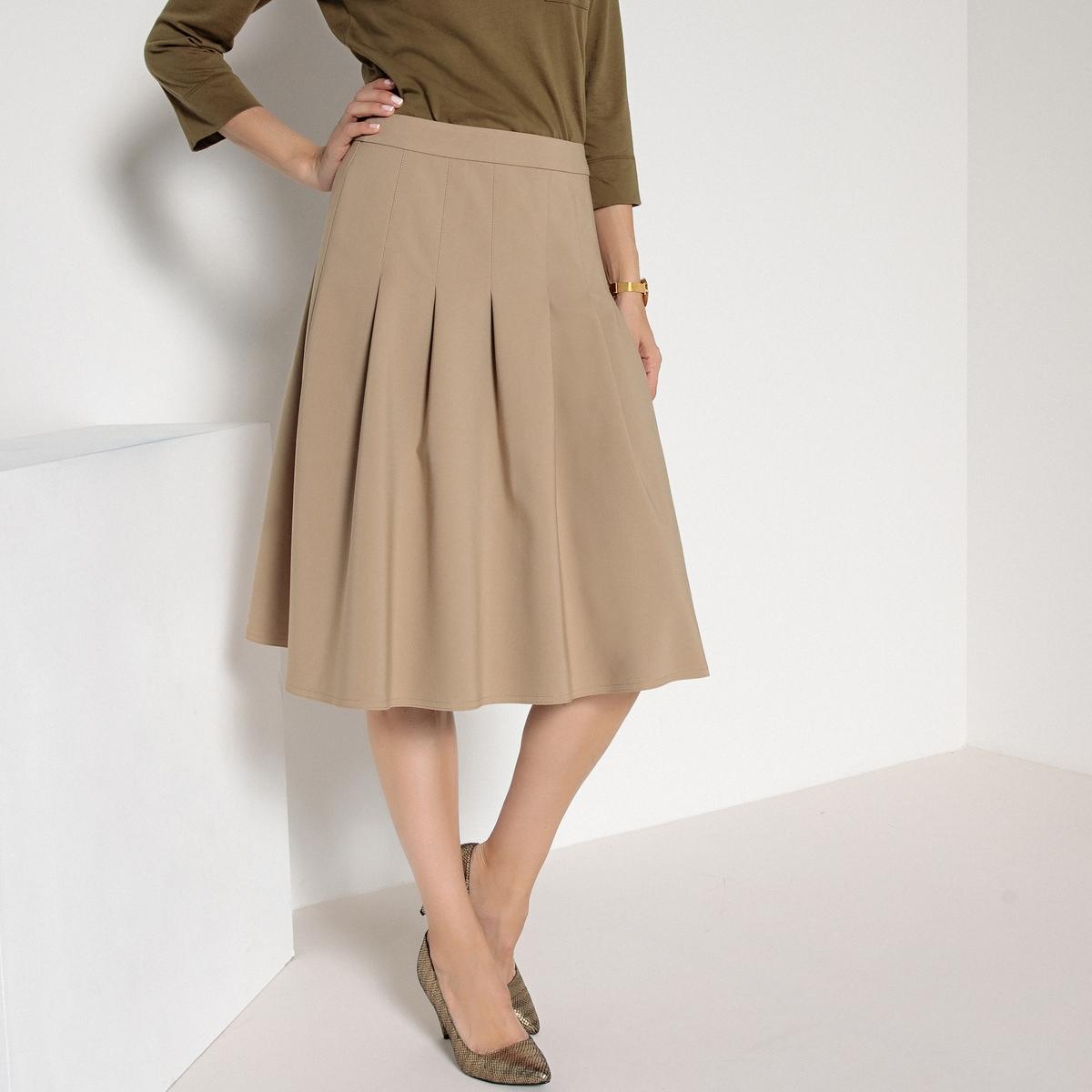 Imagen secundaria de producto de Falda con pliegue delante y detrás, semilarga - Anne weyburn