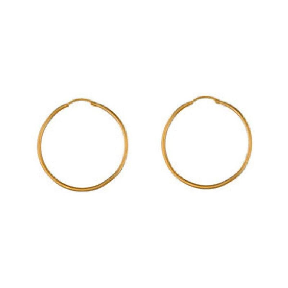 Boucles d'oreilles Créoles 35 mm Fil 1,50 mm Plaqué Or