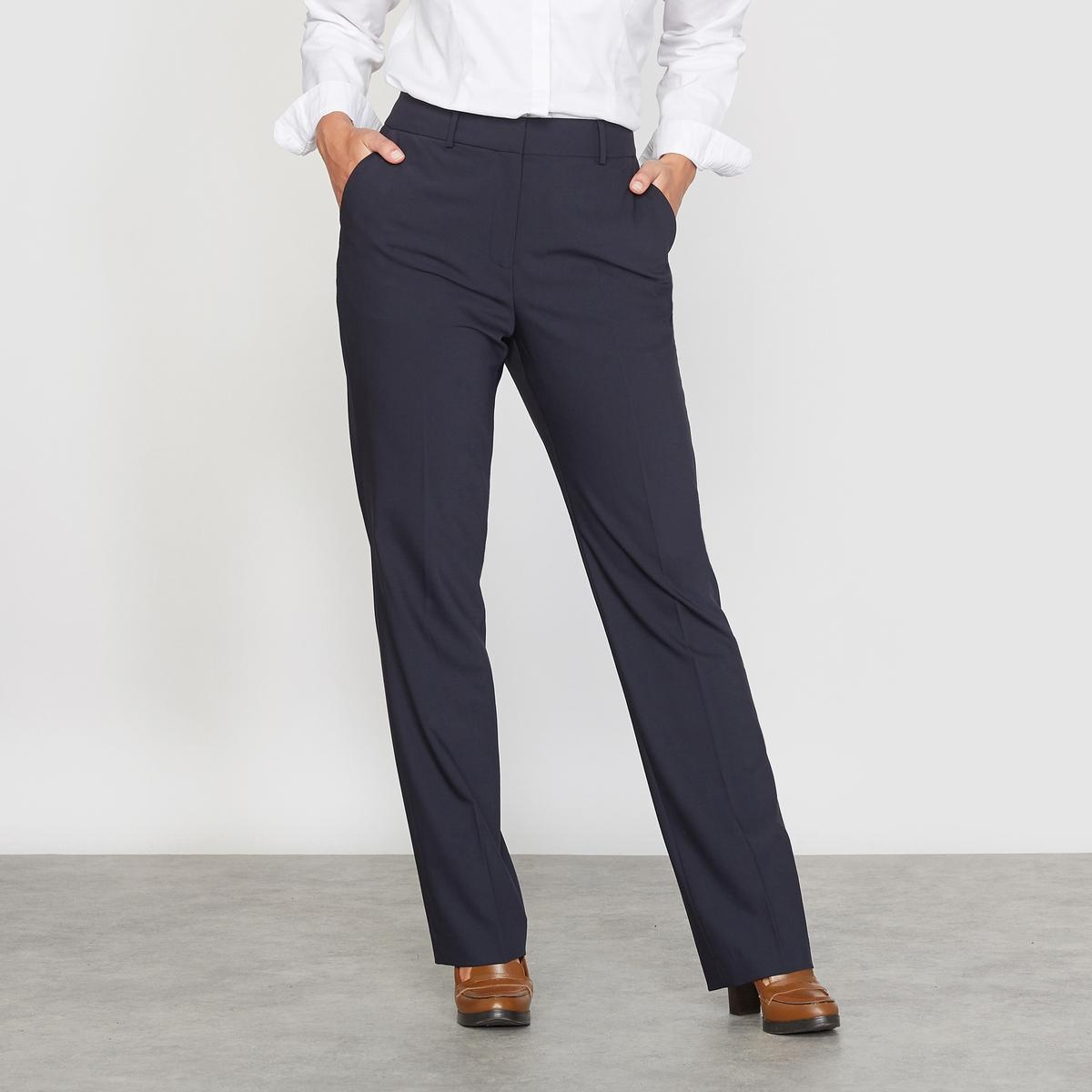 Брюки костюмные прямые, из полишерстиБрюки прямые, костюмные.Пояс со шлевками. Застёжка на молнию и потайной крючок по центру спереди.2 косых кармана по бокам.2 прорезных кармана сзади.Красивая отделка внутреннего пояса .Состав и описание :Материал : 53% полиэстера, 43% шерсти, 4% тянущегося эластана.Длина по внутр. шву 80 см, ширина по низу 22 см.Марка : CASTALUNAУход : сухая чистка .<br><br>Цвет: темно-синий,черный<br>Размер: 44 (FR) - 50 (RUS).46 (FR) - 52 (RUS).54 (FR) - 60 (RUS).56 (FR) - 62 (RUS).58 (FR) - 64 (RUS).48 (FR) - 54 (RUS).50 (FR) - 56 (RUS).52 (FR) - 58 (RUS).58 (FR) - 64 (RUS)