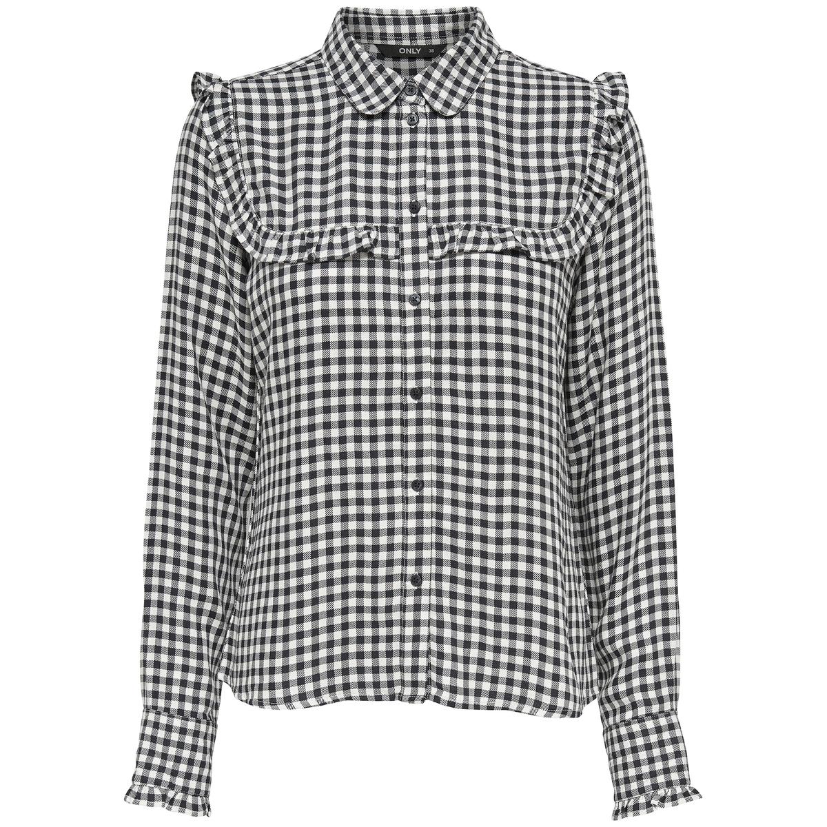 Рубашка в клетку с воротником-поло рубашка в клетку dc atura 3 atura black