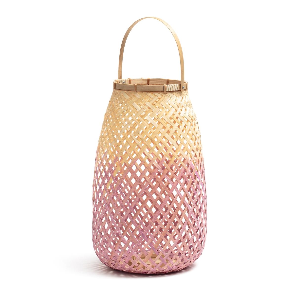 Светильник бамбуковый розовый/натуральный CORDO