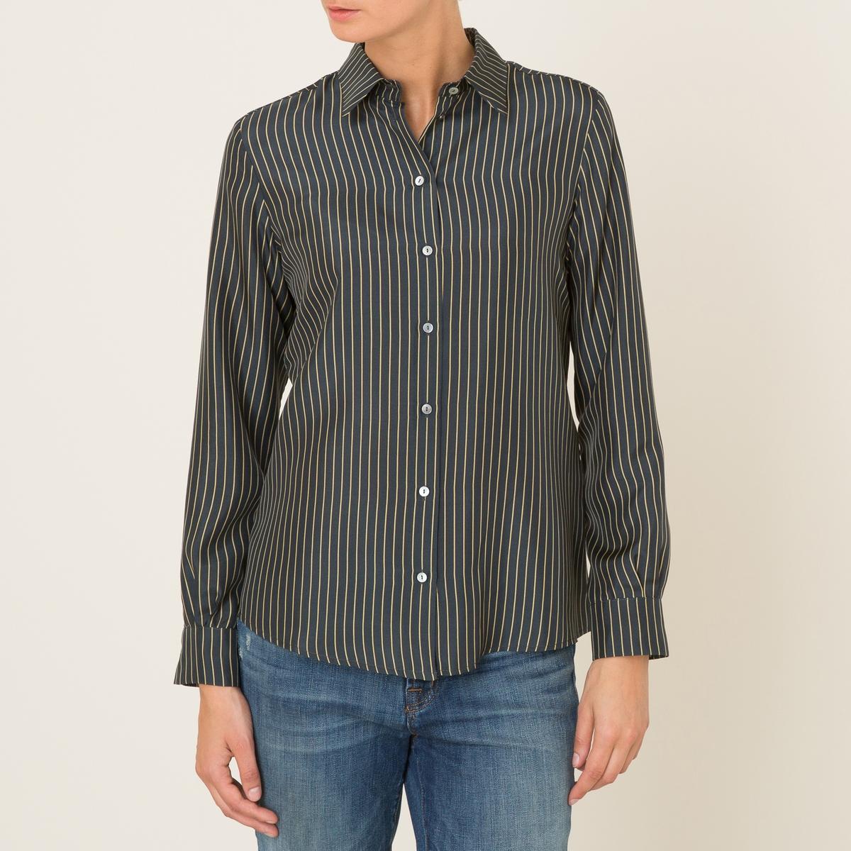 Рубашка ARESСостав &amp; Детали :Материал : 100% шелк.Марка : BA&amp;SH<br><br>Цвет: черный