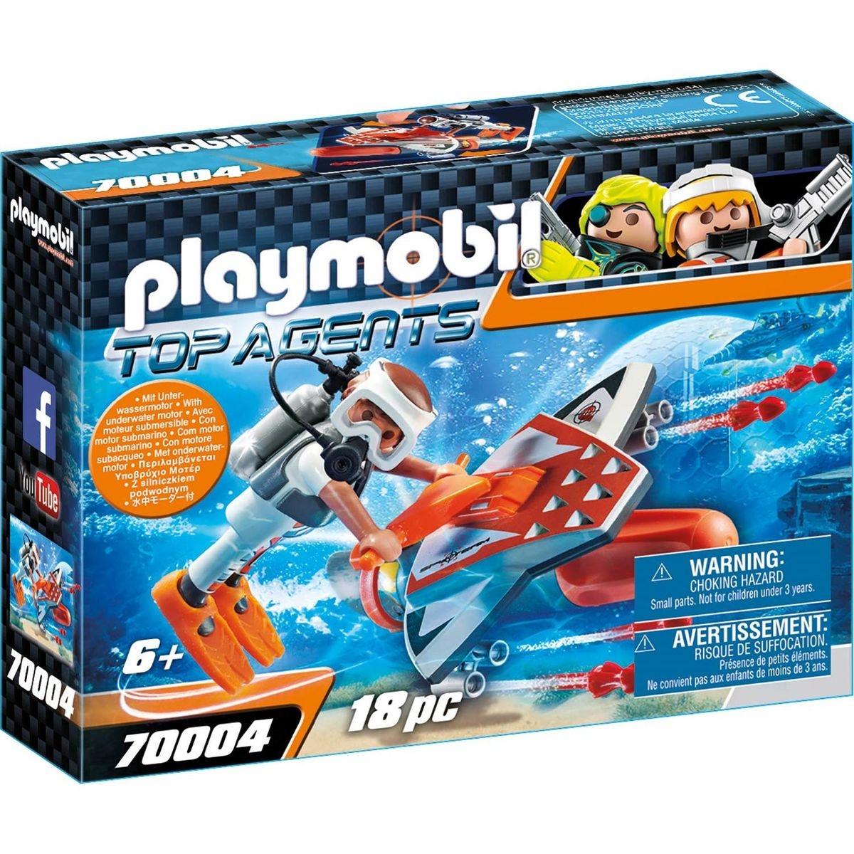 PLAYMOBIL 70004 Top Agents - Propulseur sous-marin Spy Team