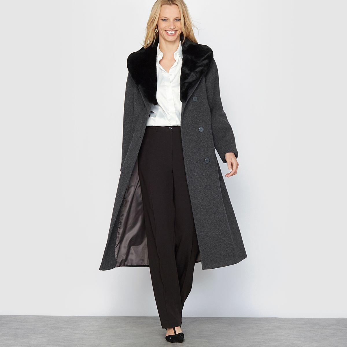 Manteau long fermeture boutonnée