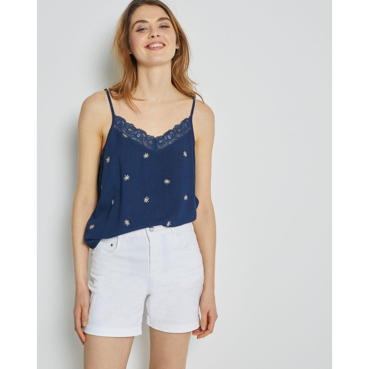 Short denim  coton/élasthanne