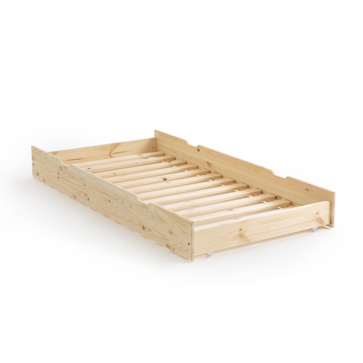 Ящик LaRedoute Для кровати из массива сосны Loan единый размер бежевый