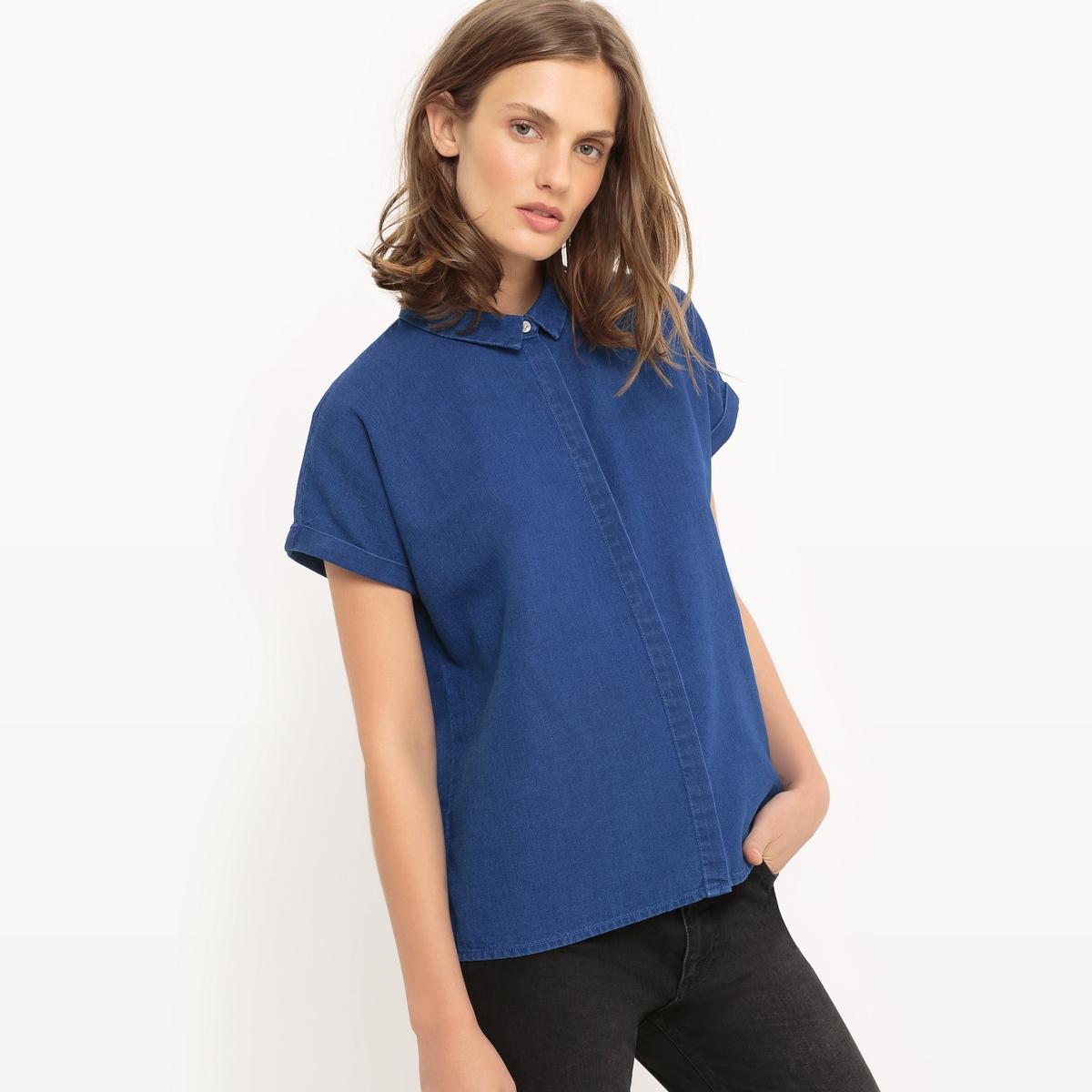 Рубашка джинсовая с короткими рукавами цена 2017
