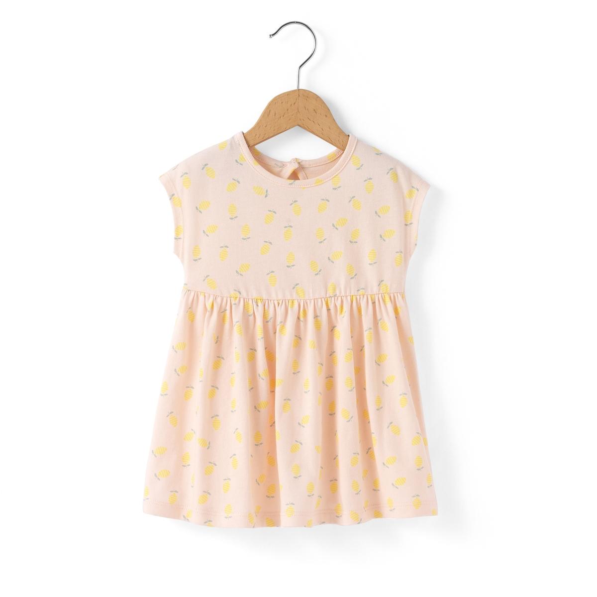 Платье с принтом лимон 1 мес-3 лет