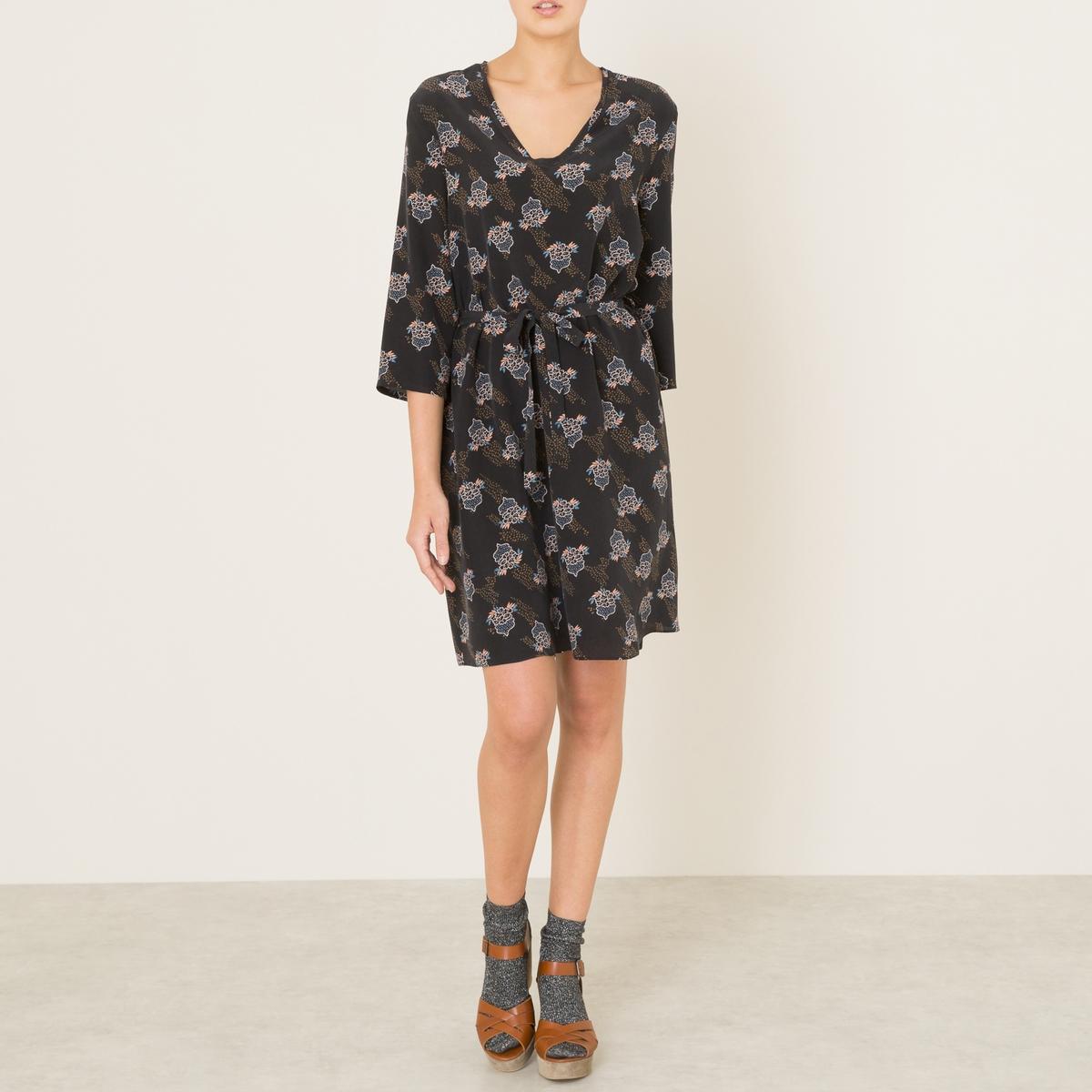 Платье из шелка PANAMEСостав и описание    Материал : 100% шелк   Длина : до колен   Марка : ANNA STUDIO<br><br>Цвет: фиолетовый<br>Размер: M