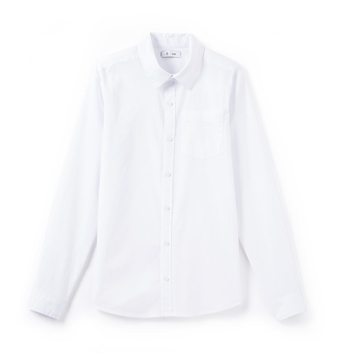 Рубашка однотонная, 10-16 лет