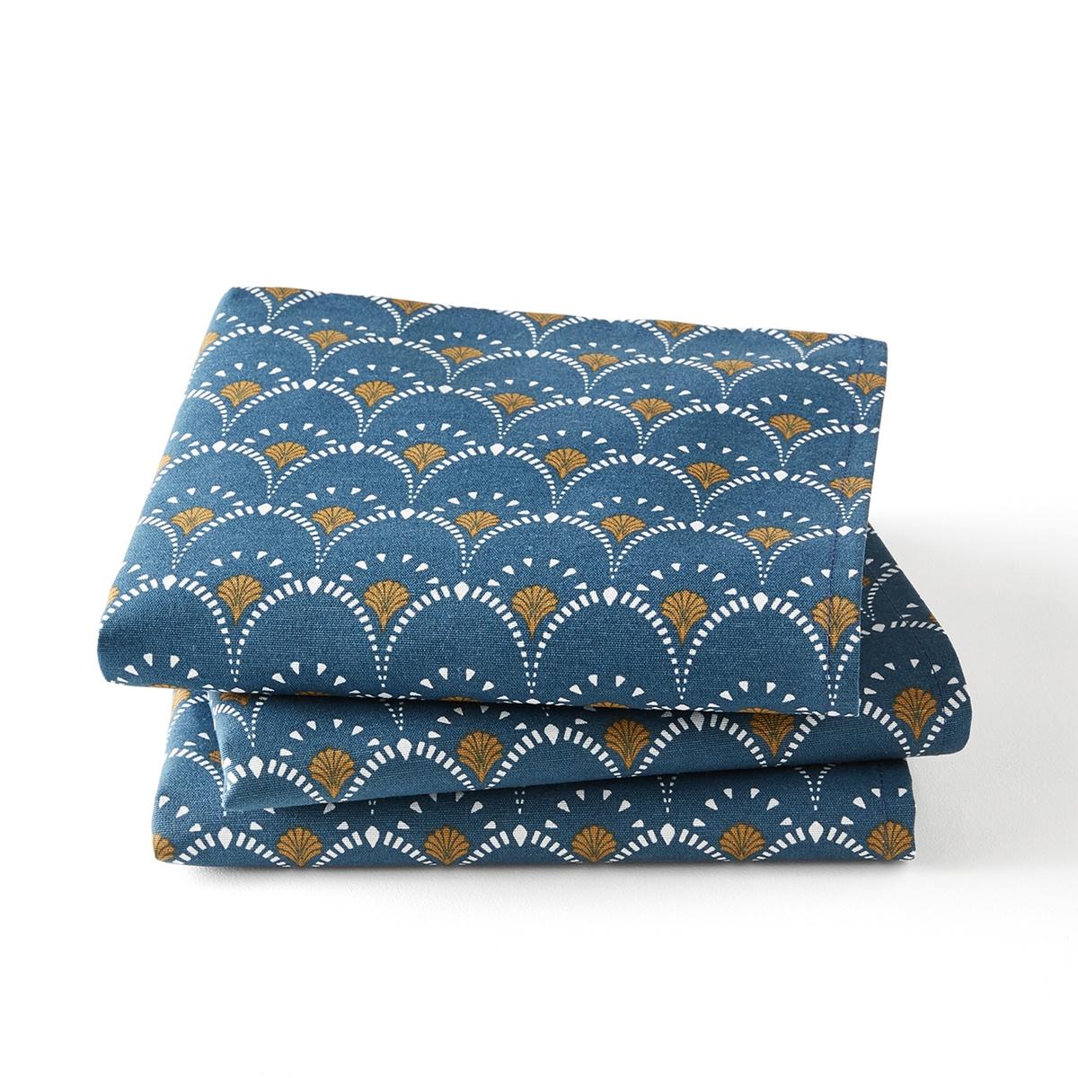 купить Комплект из салфеток с La Redoute Рисунком MINA 45 x 45 см синий дешево
