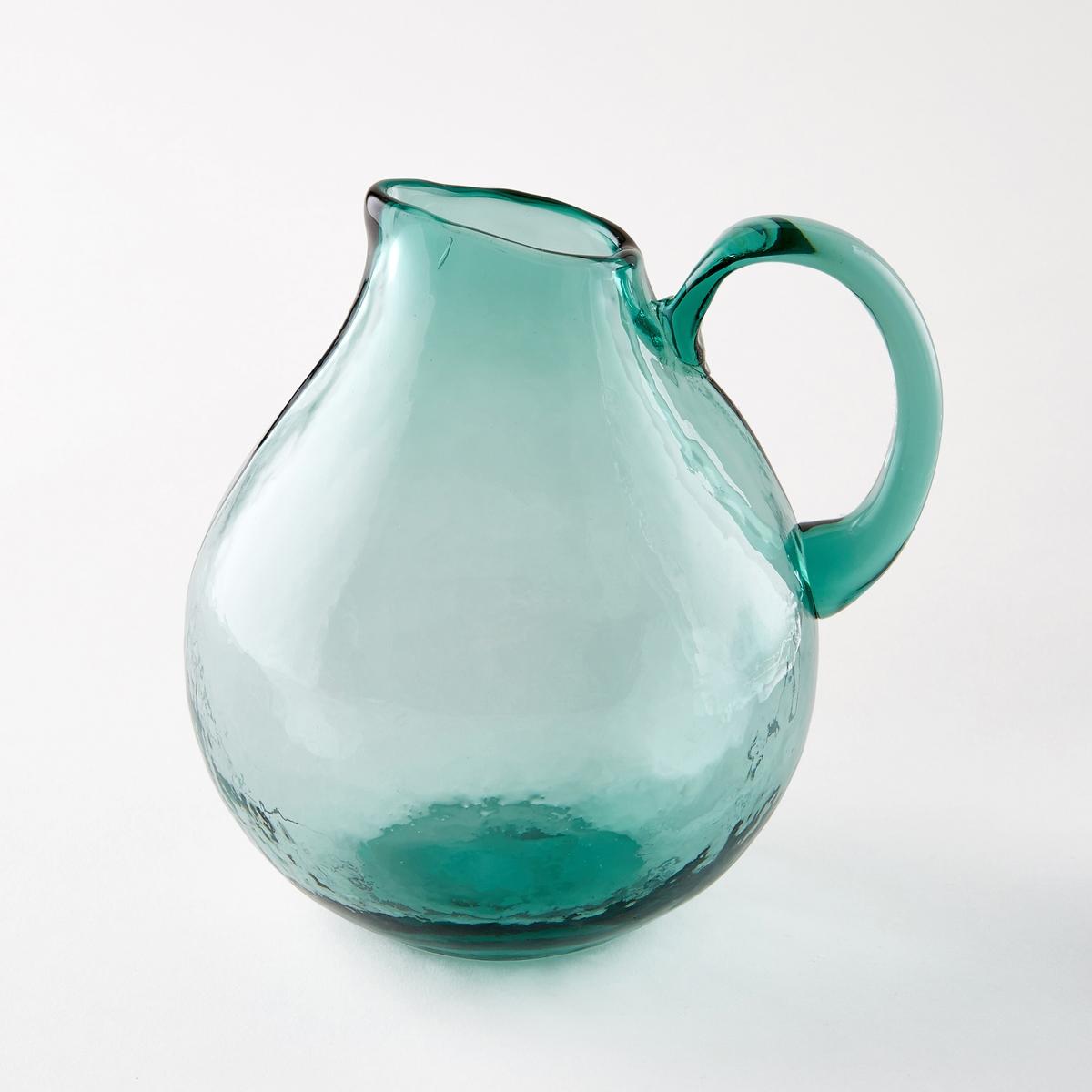 Графин из дутого стекла GalindoГрафин Galindo. Из дутого стекла. Каждое изделие уникально . Подходит для мытья в посудомоечной машине. Размеры  : диаметр 15 x высота 18 см. Объем 1,5 л.<br><br>Цвет: бирюзовый
