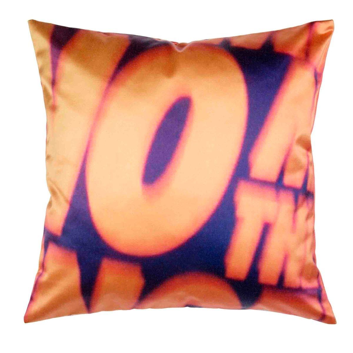 Enveloppe de coussin Polyester YES Orange clair