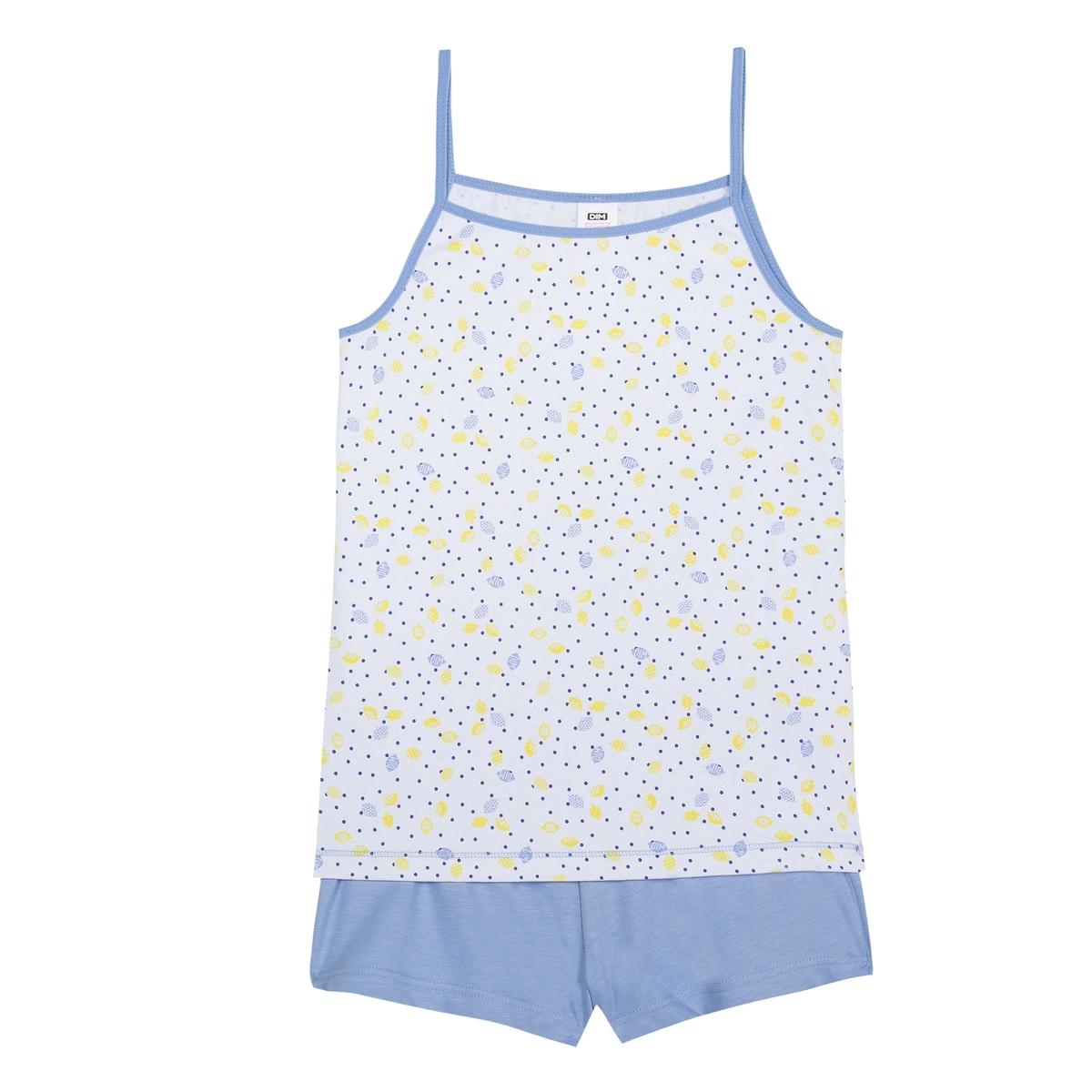 Пижама La Redoute С шортами 16 лет - 162 см синий рубашка la redoute из ткани оксфорд 16 лет 162 см синий