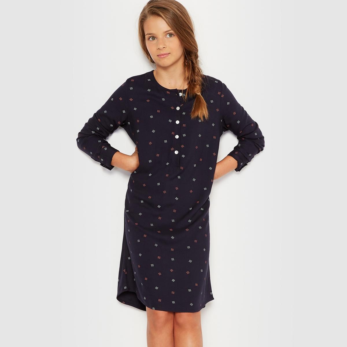 Платье-рубашка с рисунком 10-16 лет