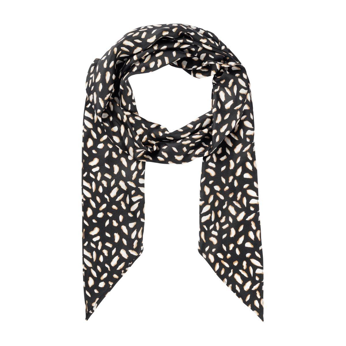 Foulard en soie à imprimé léopard