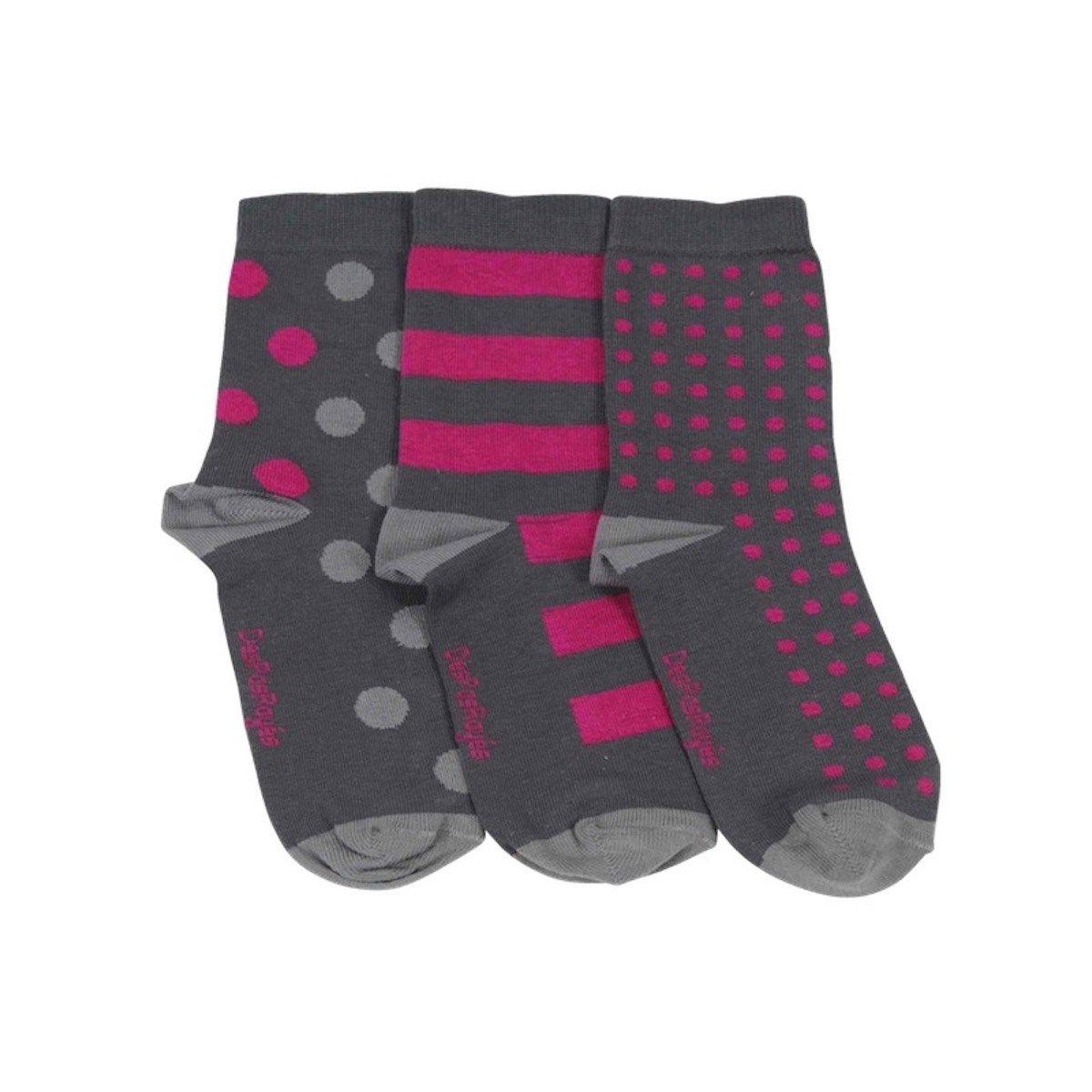 Chaussettes dépareillées à pois