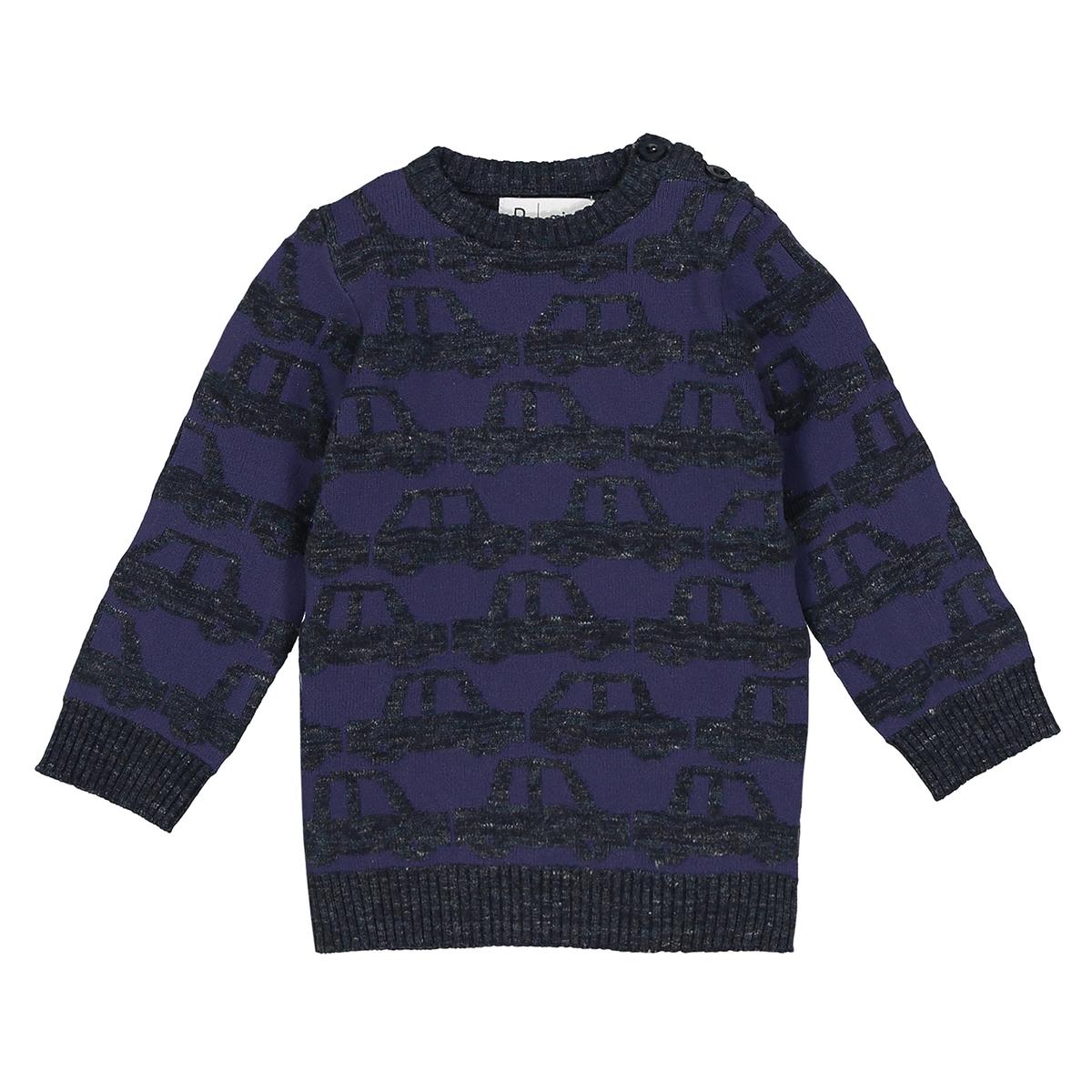 Sweter z okrągłym dekoltem w samochody - 1-36 mies.