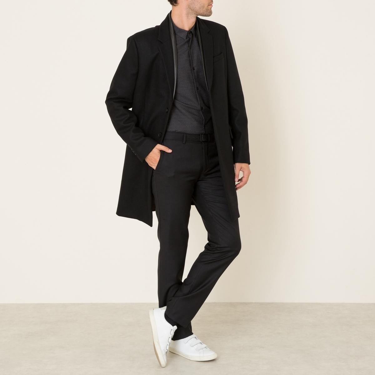 Пальто из шерстяного драпа