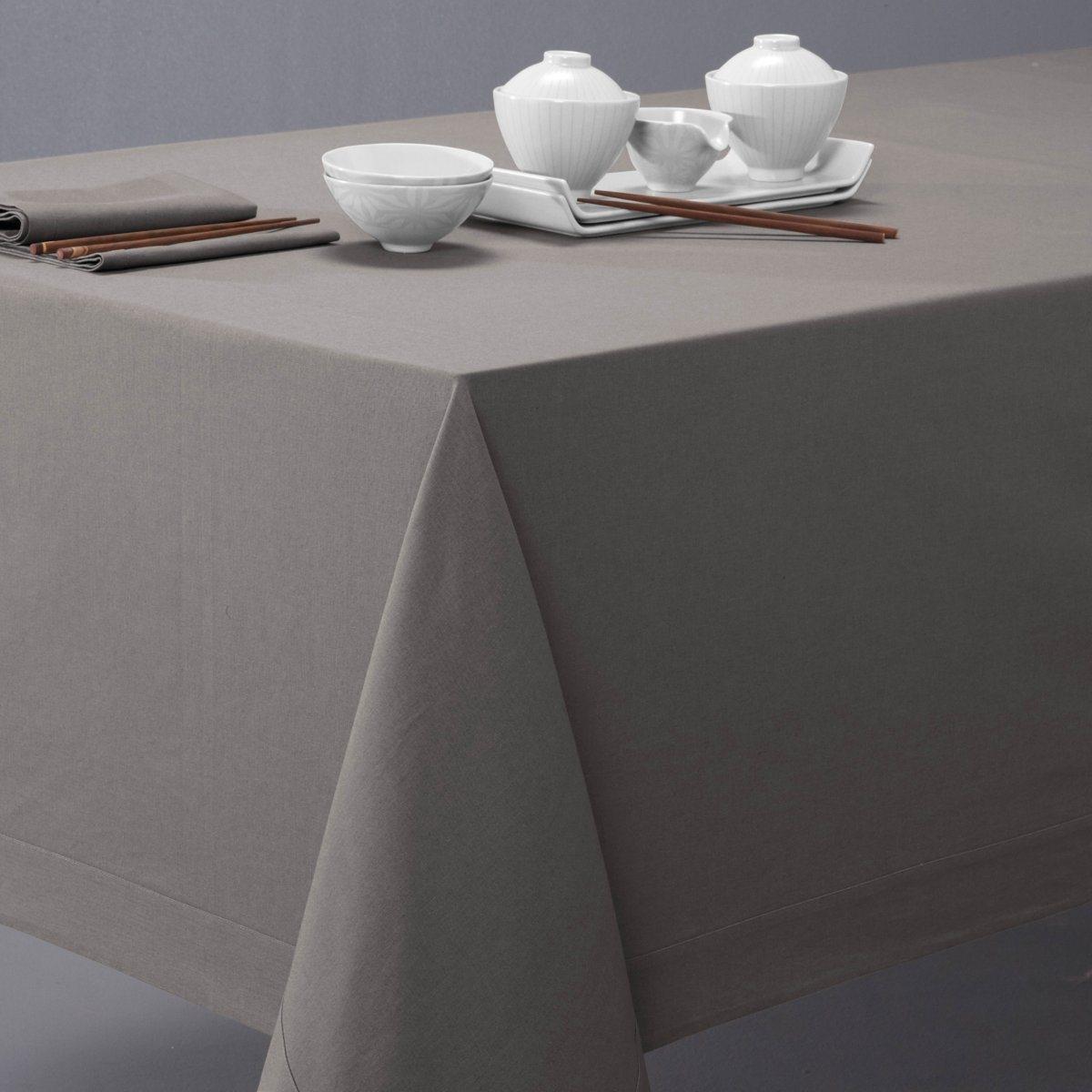 Скатерть La Redoute Из смесовой ткани BORDER прямоуг. 150x200см серый пододеяльник с рисунком из смесовой ткани ayanna