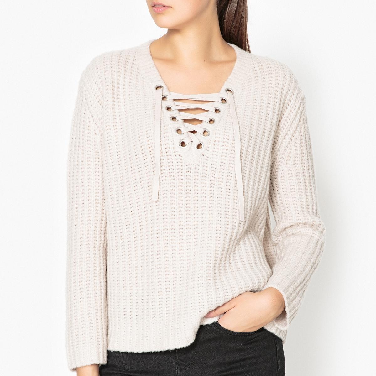 Пуловер из шерсти меланж LILA