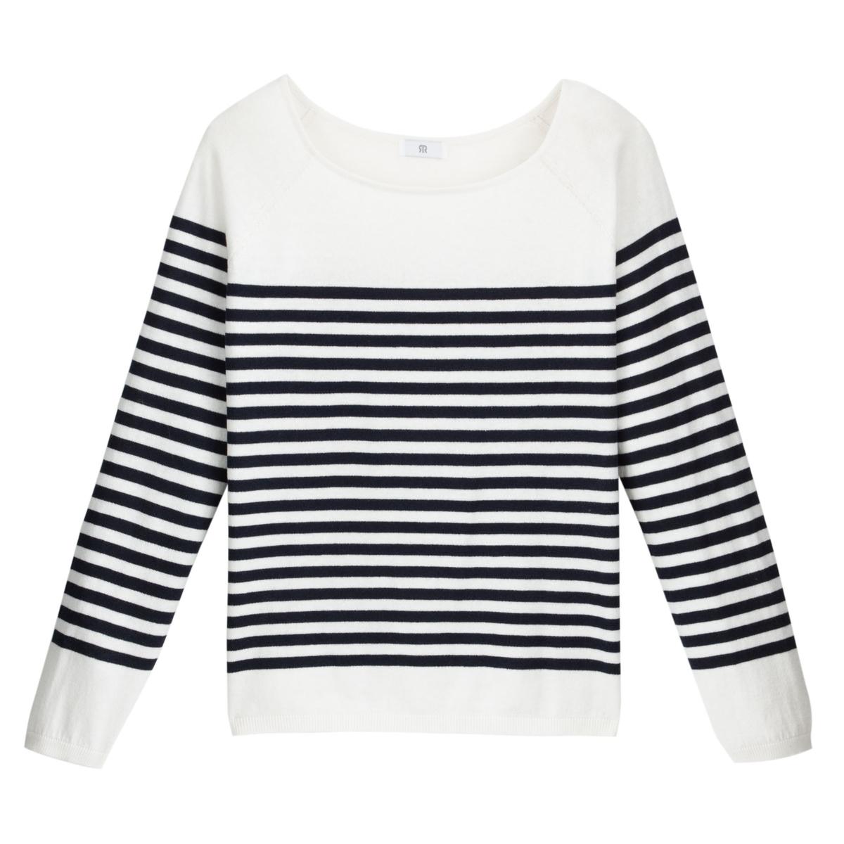 Jersey de estilo marinero de punto fino de algodón mezclado
