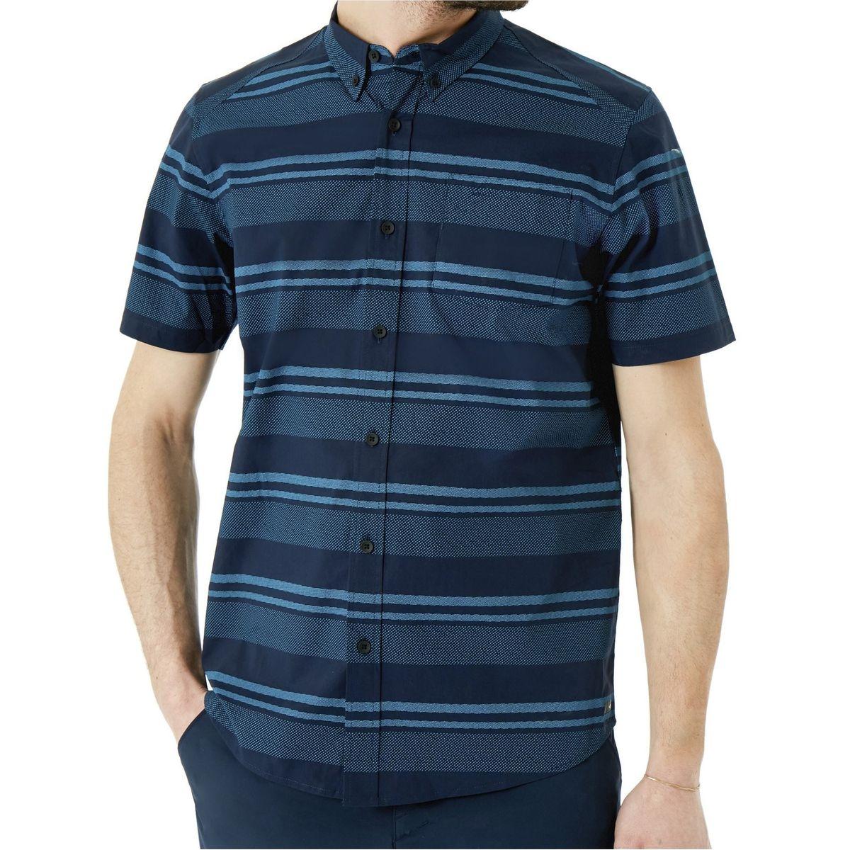 Chemise à manches courtes Stripe Woven