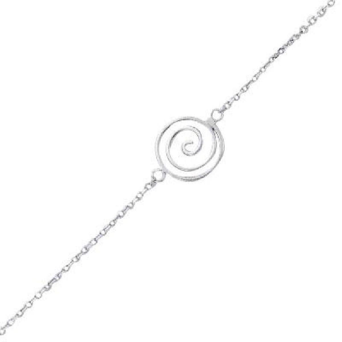 Bracelet 17+2 cm Spirale Argent 925