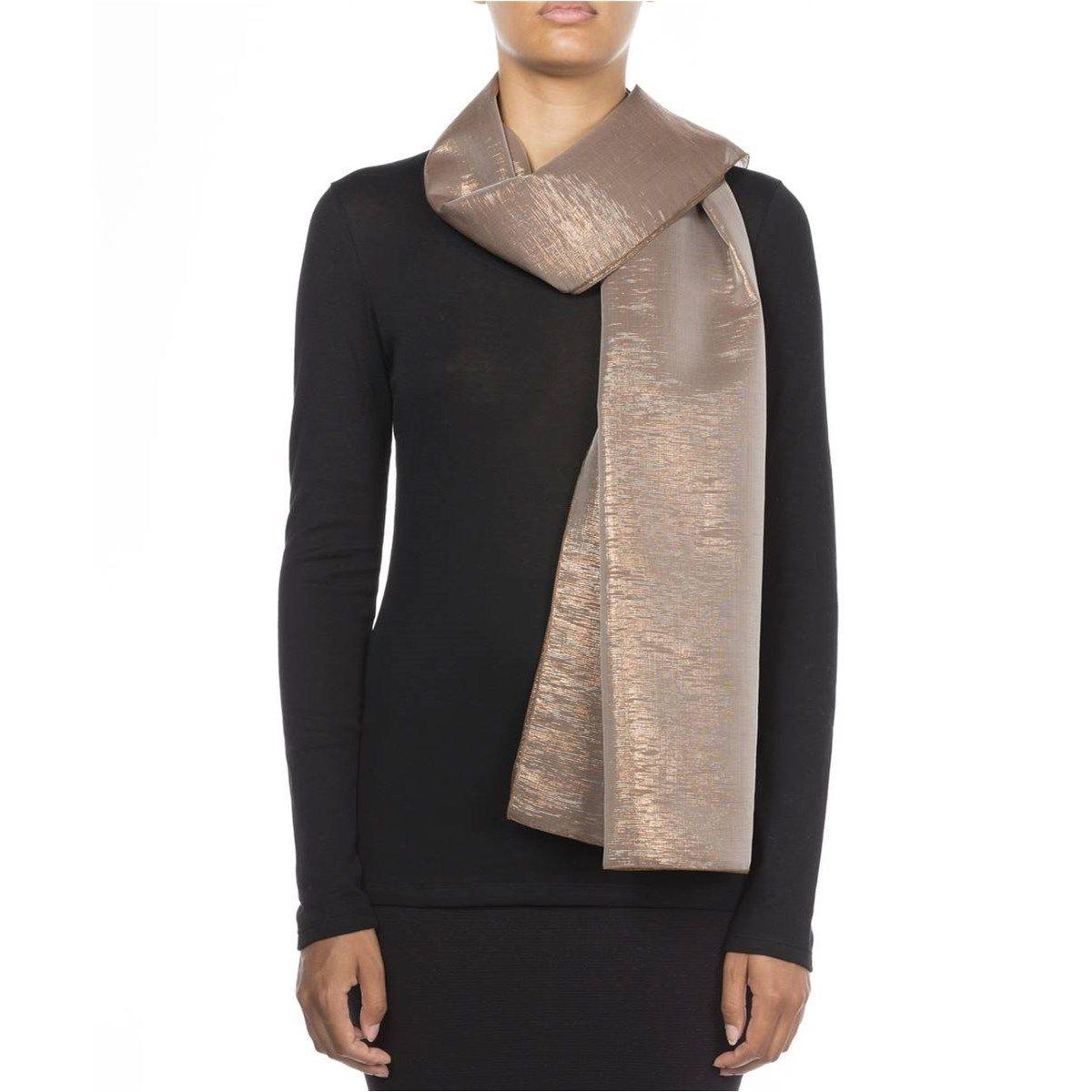 Foulard en crêpe de soie et Fil textile® Brigitte
