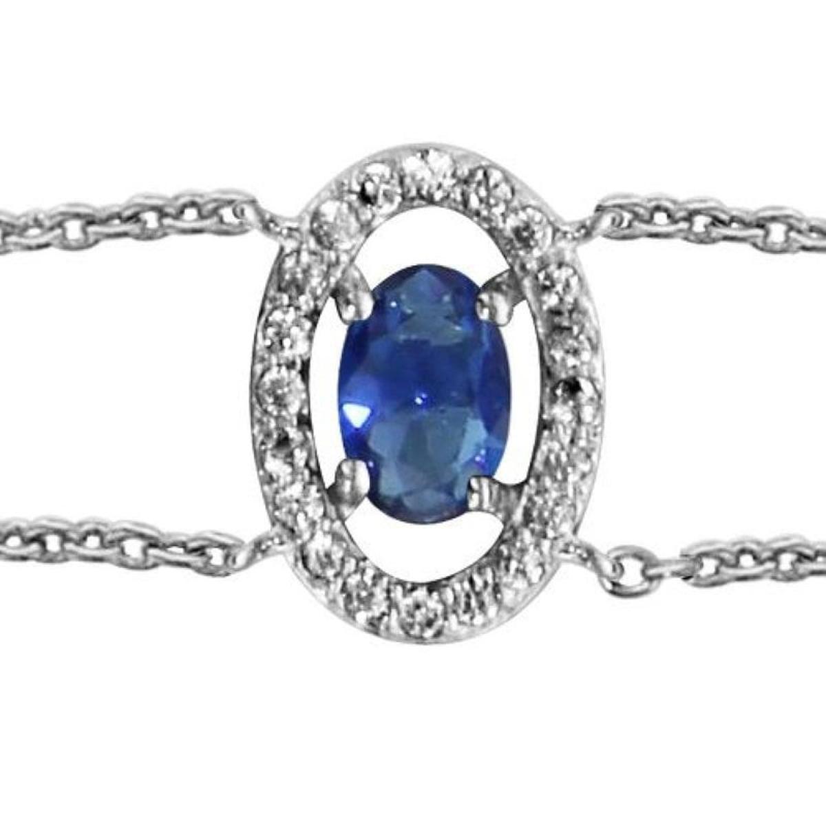Bracelet Réglable: 16 à 18 cm Ovale Argent 925