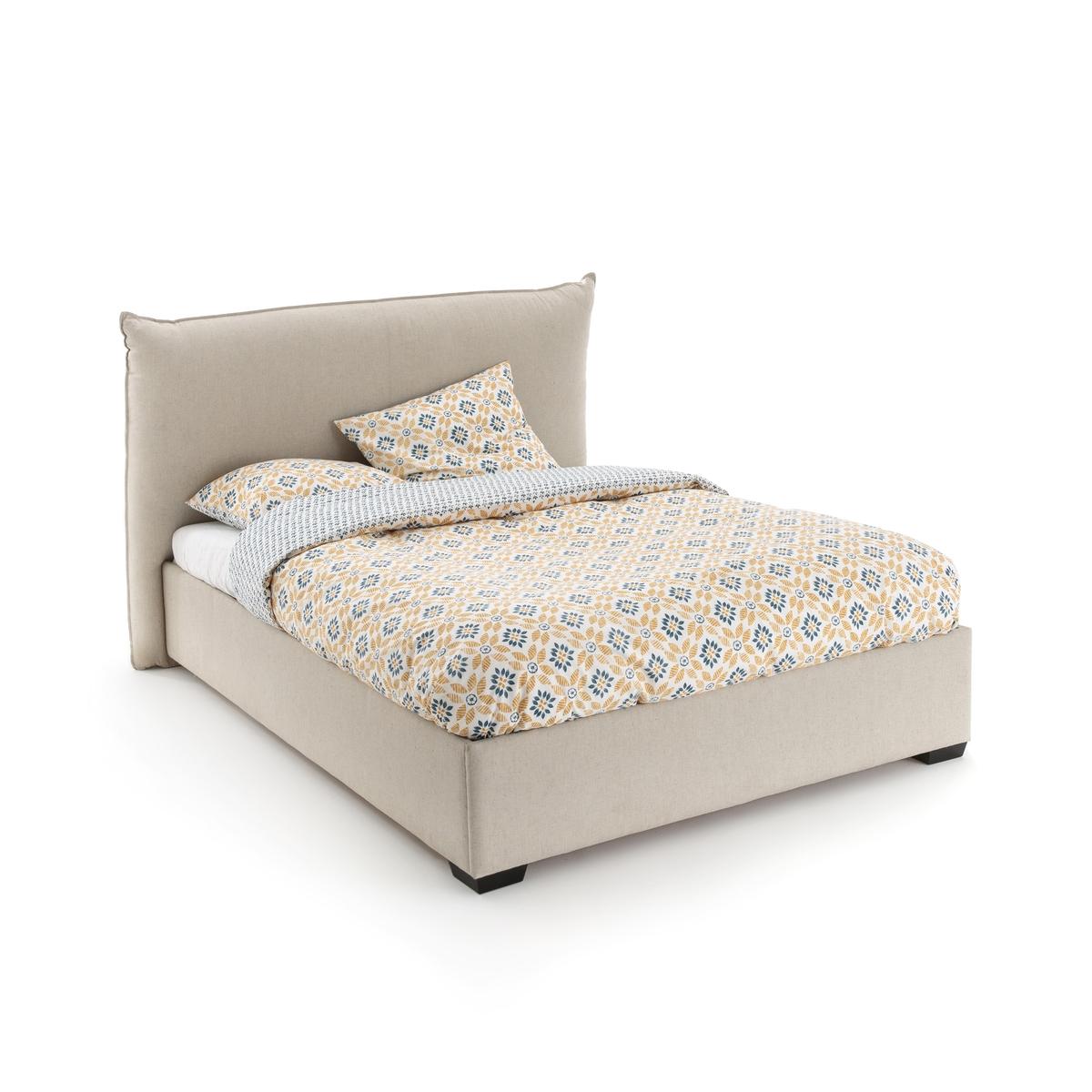 цена Кровать-ящик La Redoute С поднимающейся основой PANCHO 160 x 200 см бежевый онлайн в 2017 году
