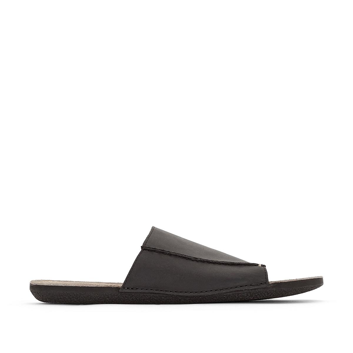 Туфли без задника кожаные Spika