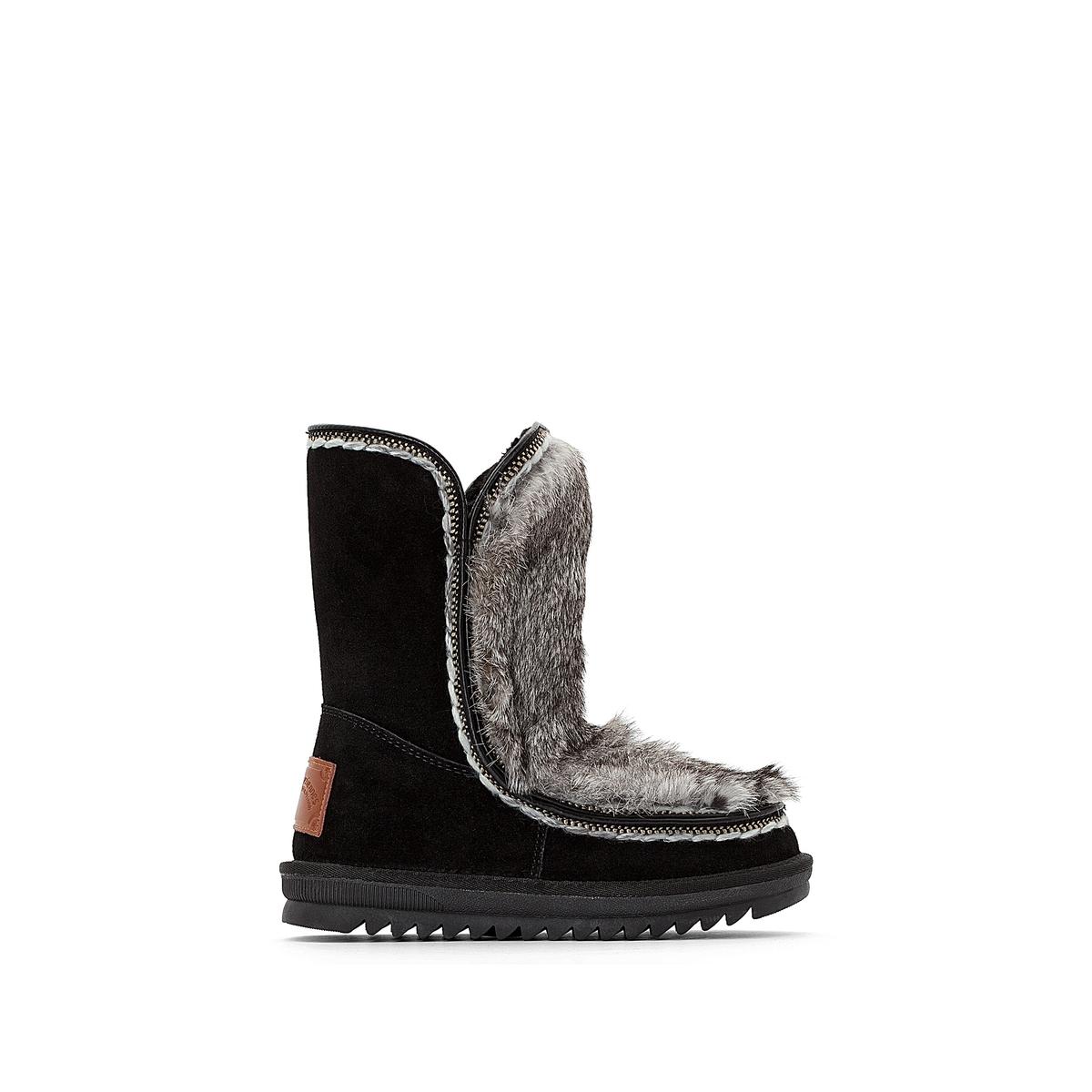 Сапоги кожаные с мехом Joana цены онлайн