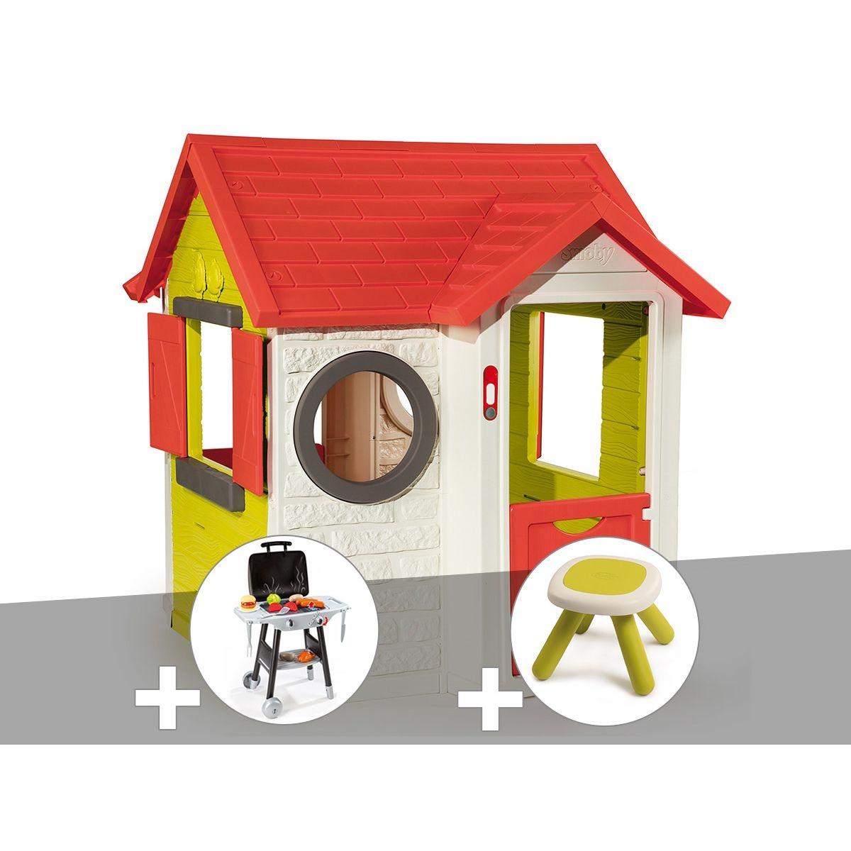 Cabane enfant My House - Smoby + Plancha + Tabouret