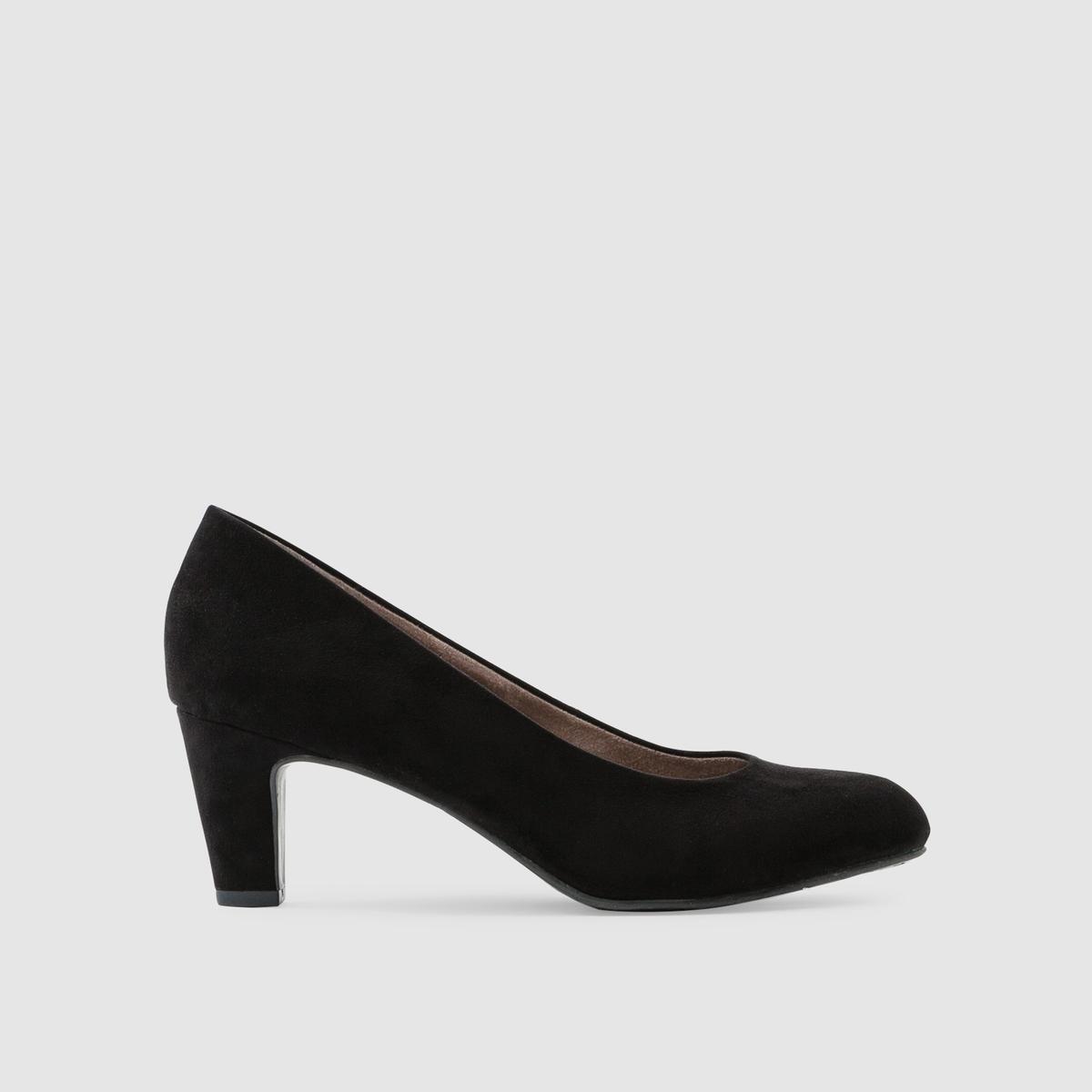 Туфли из искусственной замшиПодкладка : текстиль   Стелька : синтетика   Подошва : синтетика   Высота каблука : 6 см   Марка : TAMARIS<br><br>Цвет: черный