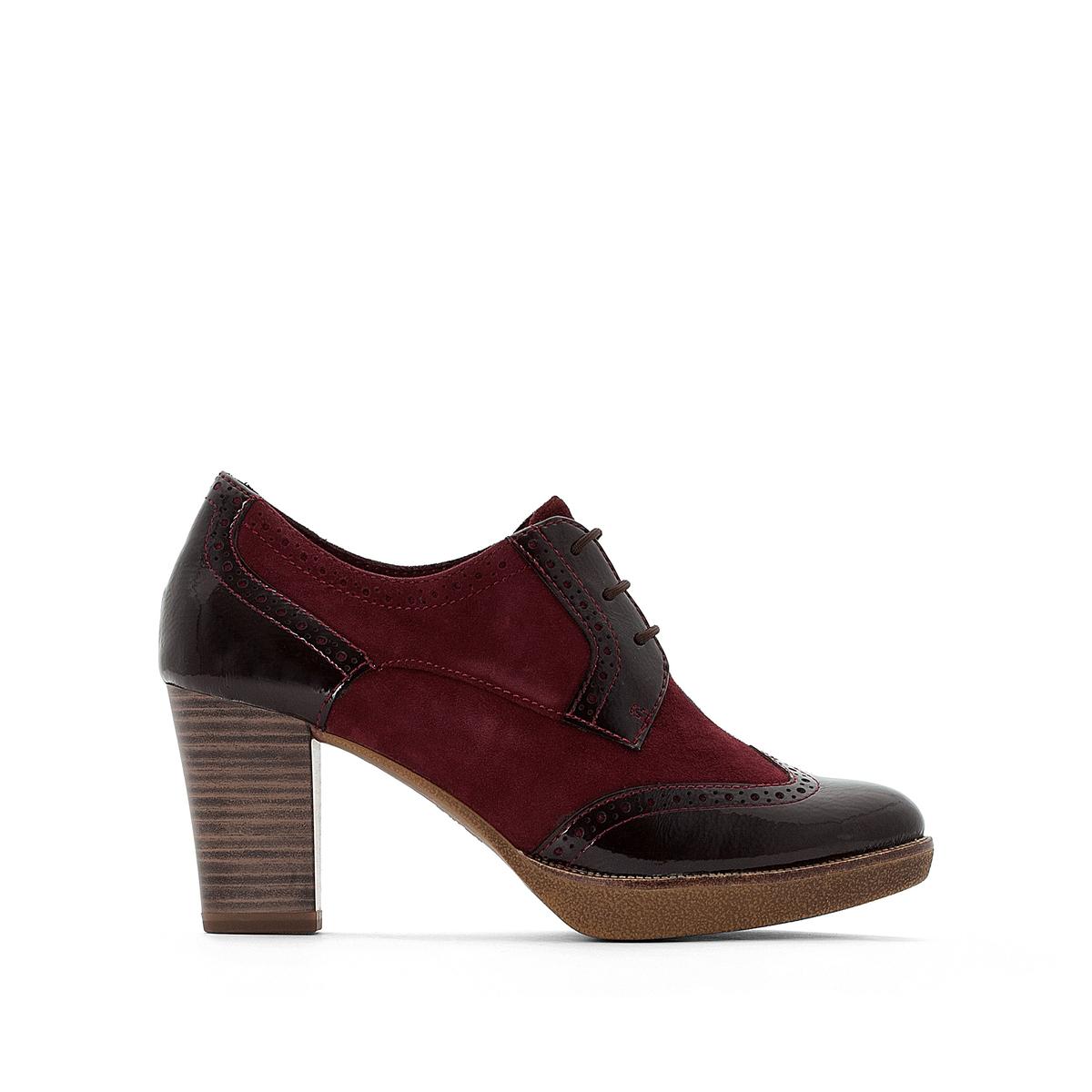 купить Ботинки-дерби кожаные на каблуке Fee недорого