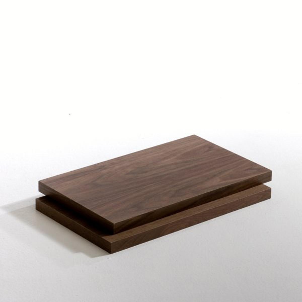 2 полки длиной 60 см орех, TaktikХарактеристики полок:- Из МДФ, покрытого ореховым шпоном. Размеры полок:- Длина: 60 см. - Толщина: 3,5 см.  2 глубины на выбор.- Глубина: 18 см (размер S)- Глубина: 30 см (размер M)<br><br>Цвет: ореховый