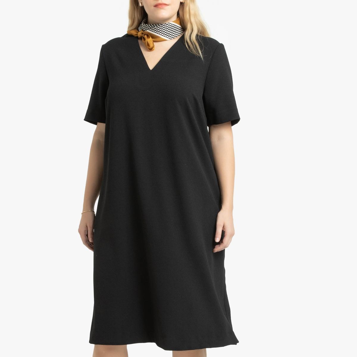 Платье-миди La Redoute Расклешенное длина 56 (FR) - 62 (RUS) черный