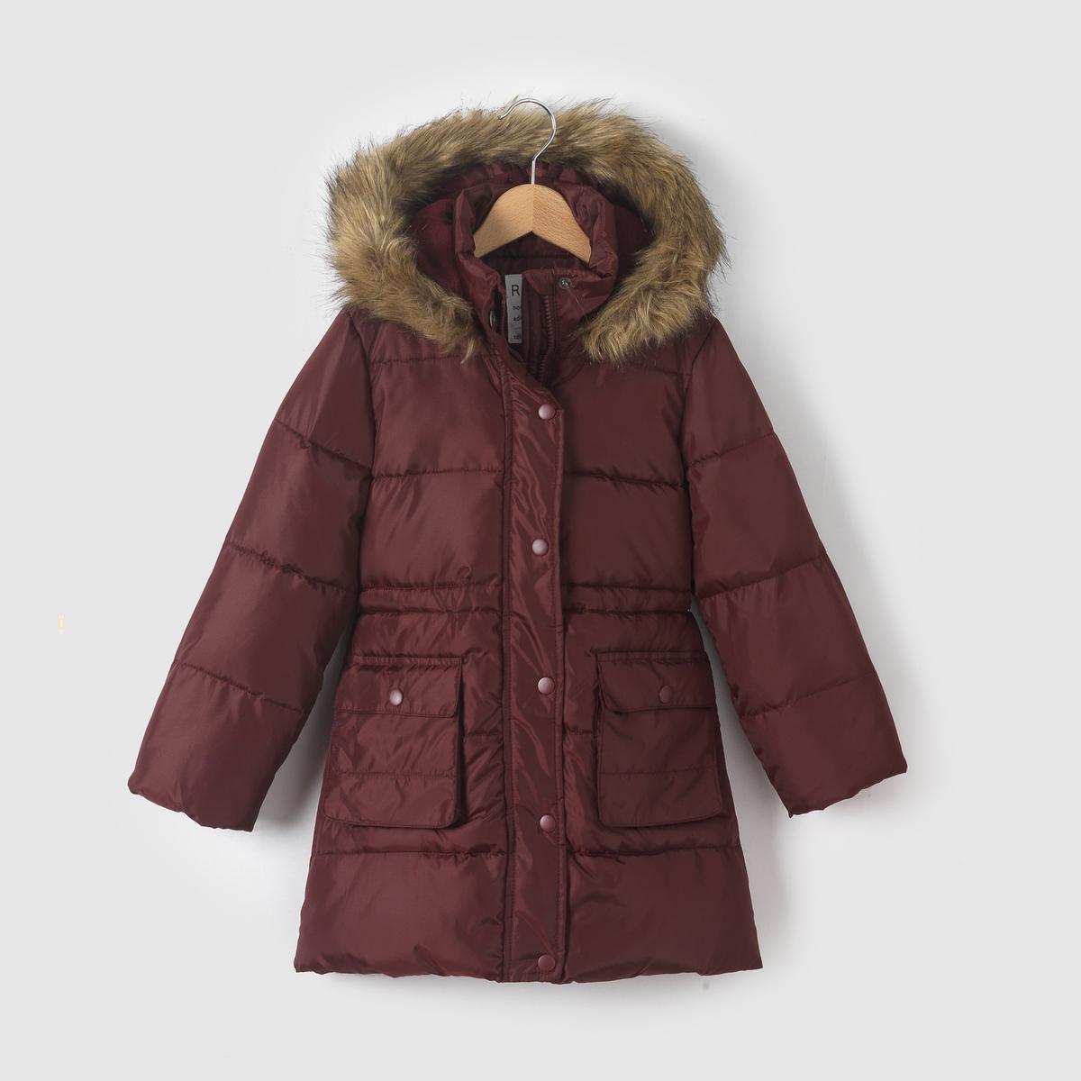 Стеганая куртка с капюшоном 3-12 лет