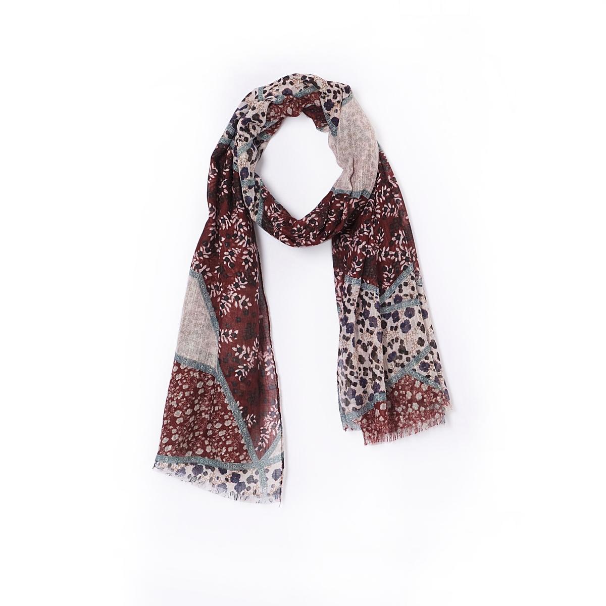 Платок с рисункомПлаток с цветочным рисунком. Незаменимый предмет гардероба зимой для стильного наряда !    Состав и описание :Материал : 100% полиэстерРазмеры : 174 x 90 см.Марка : Anne Weyburn<br><br>Цвет: бордовый<br>Размер: единый размер