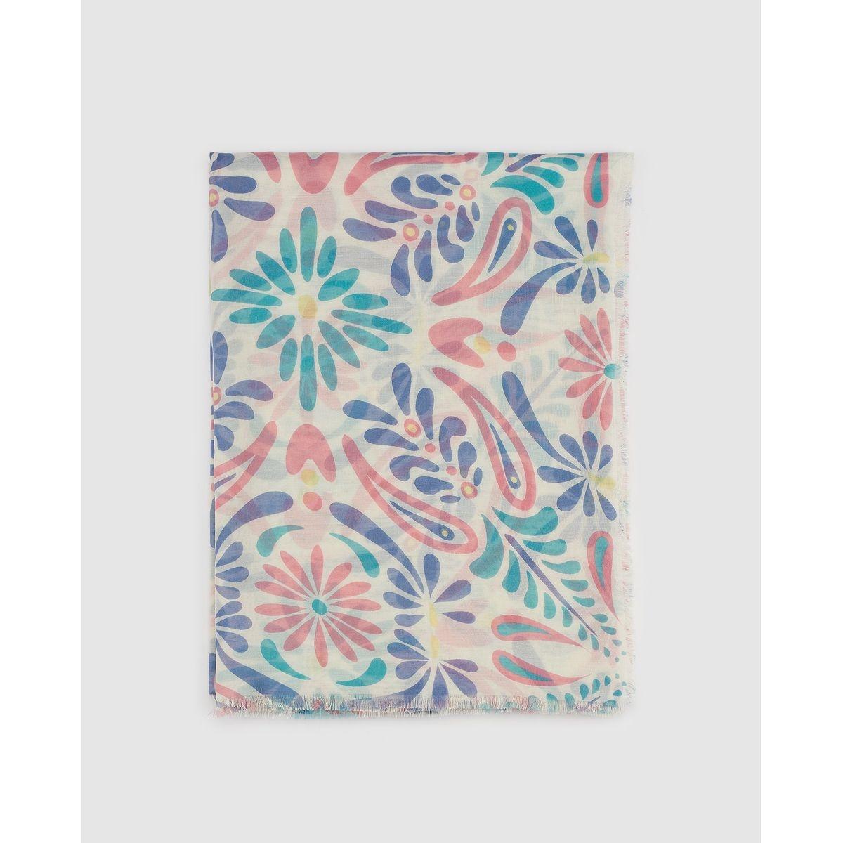 Foulard Southern Cotton à imprimé floral