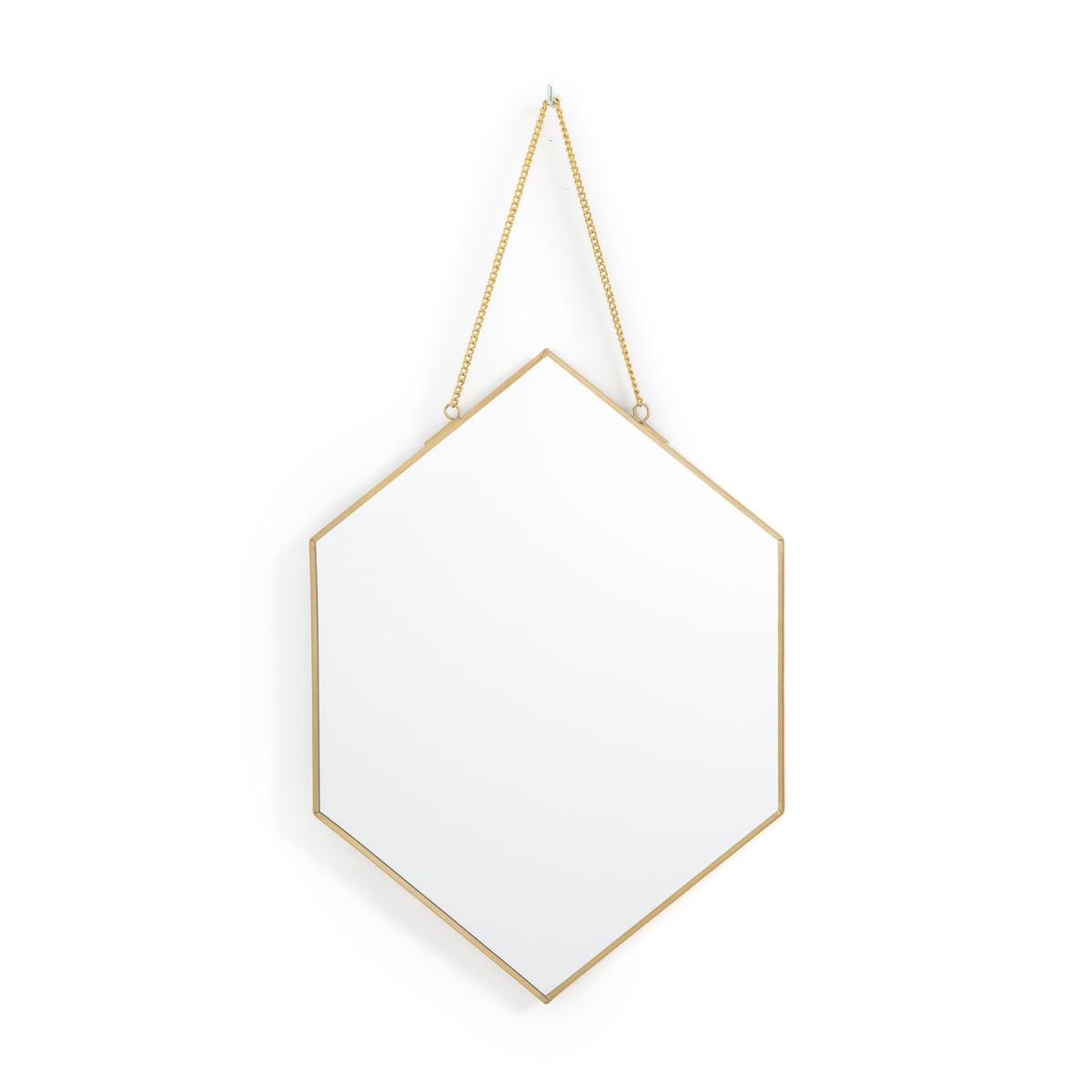 Зеркало La Redoute В форме шестиугольника Uyova единый размер другие зеркало la redoute в индустриальном стиле в форме окна lenaig единый размер черный