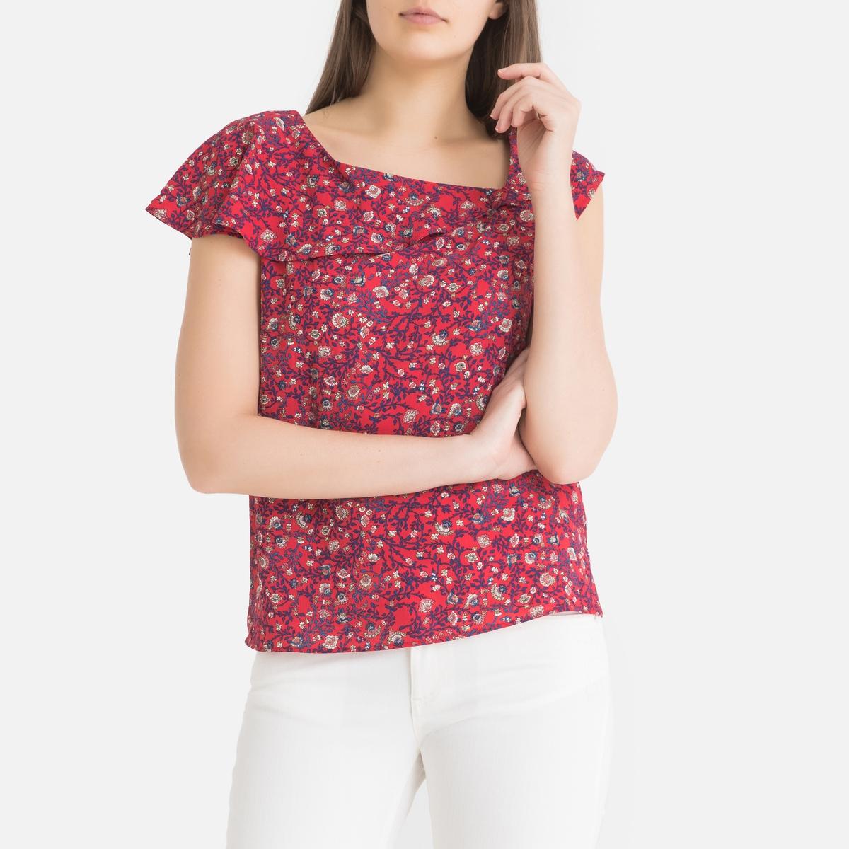 Блузка La Redoute С рисунком без рукавов 38 (FR) - 44 (RUS) розовый блузка la redoute с круглым вырезом без рукавов 50 fr 56 rus черный