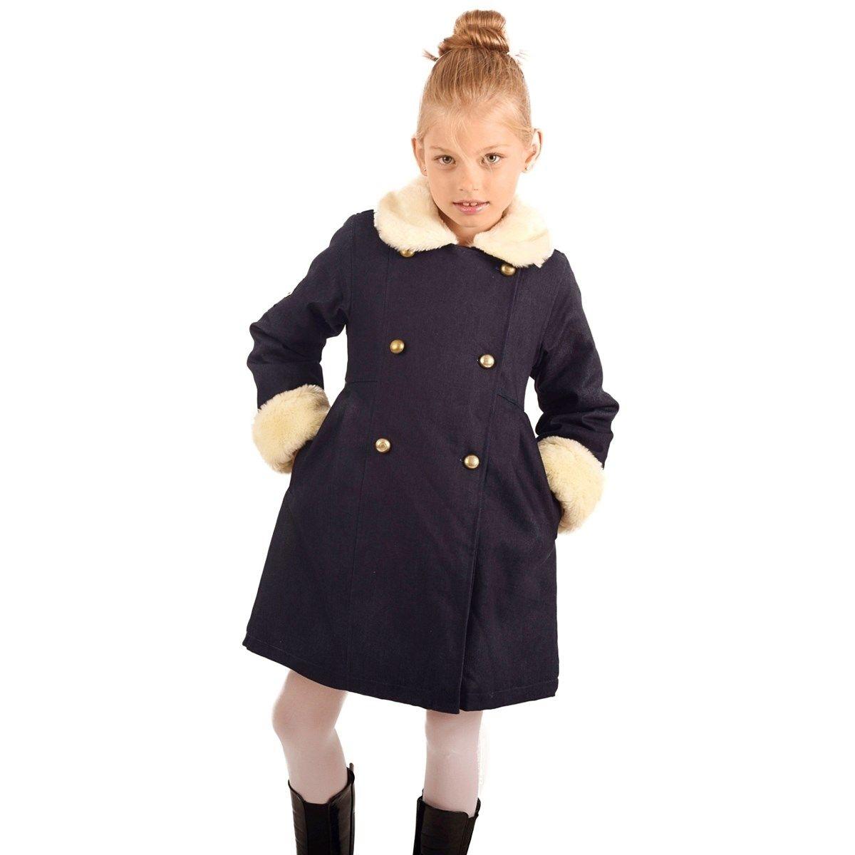 Manteau denim et imitation fourrure Fille 2-12 ans ANOUSHKA
