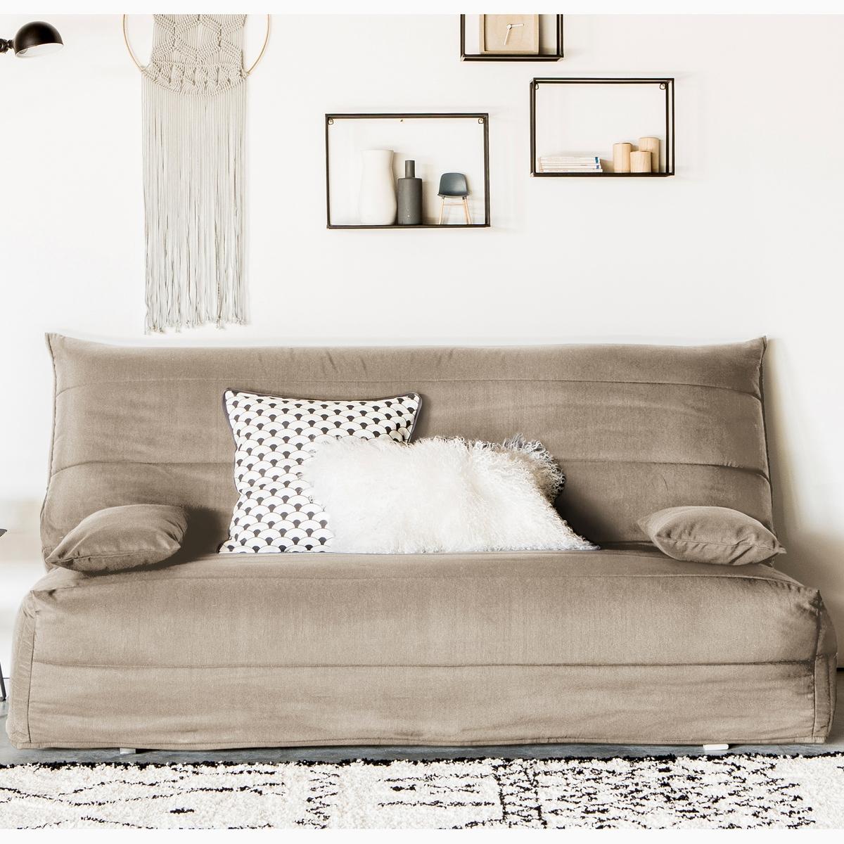 Чехол La Redoute Стеганый из поликоттона для дивана-аккордеона 140 см бежевый