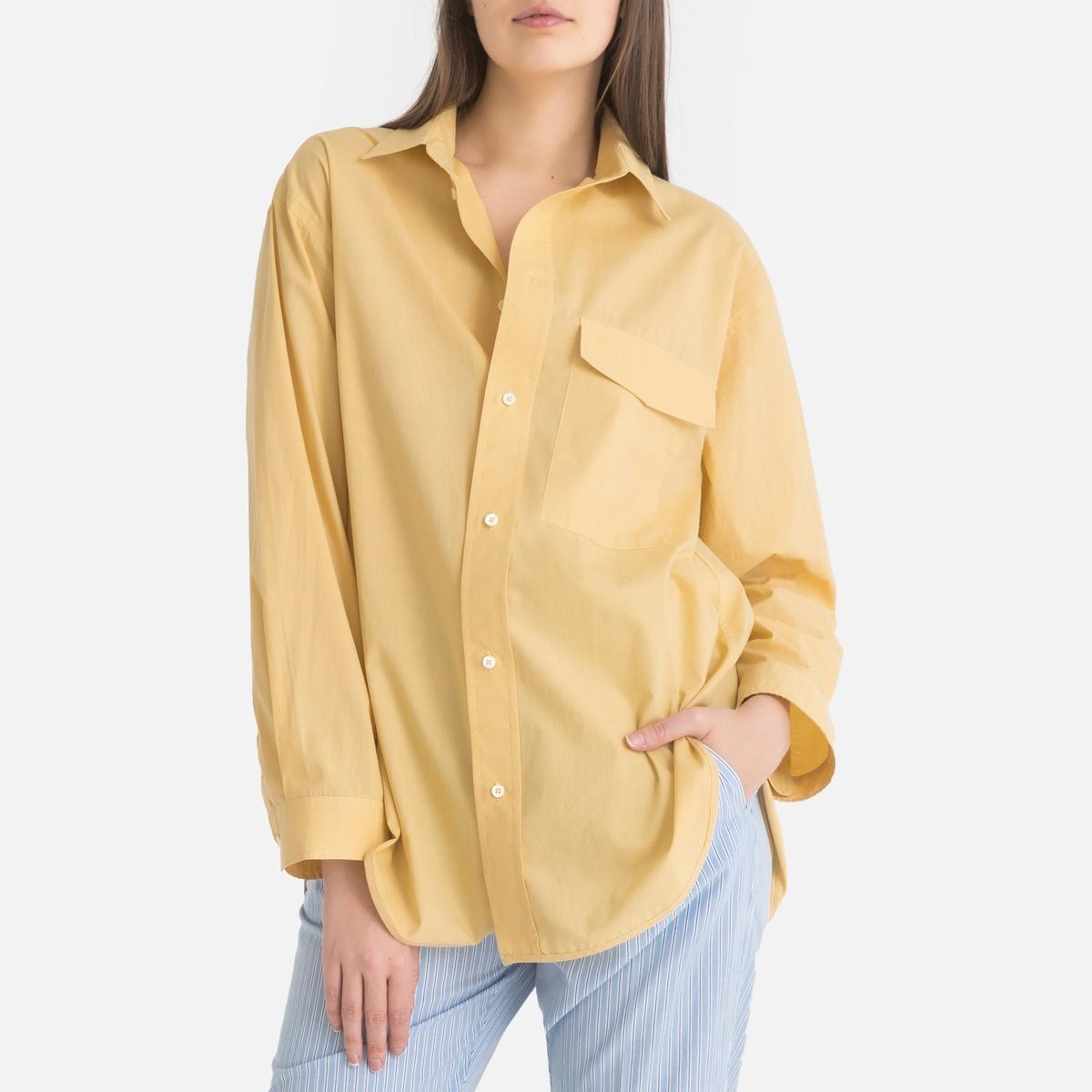 Блузка La Redoute Свободного покроя с длинными рукавами 2(M) желтый