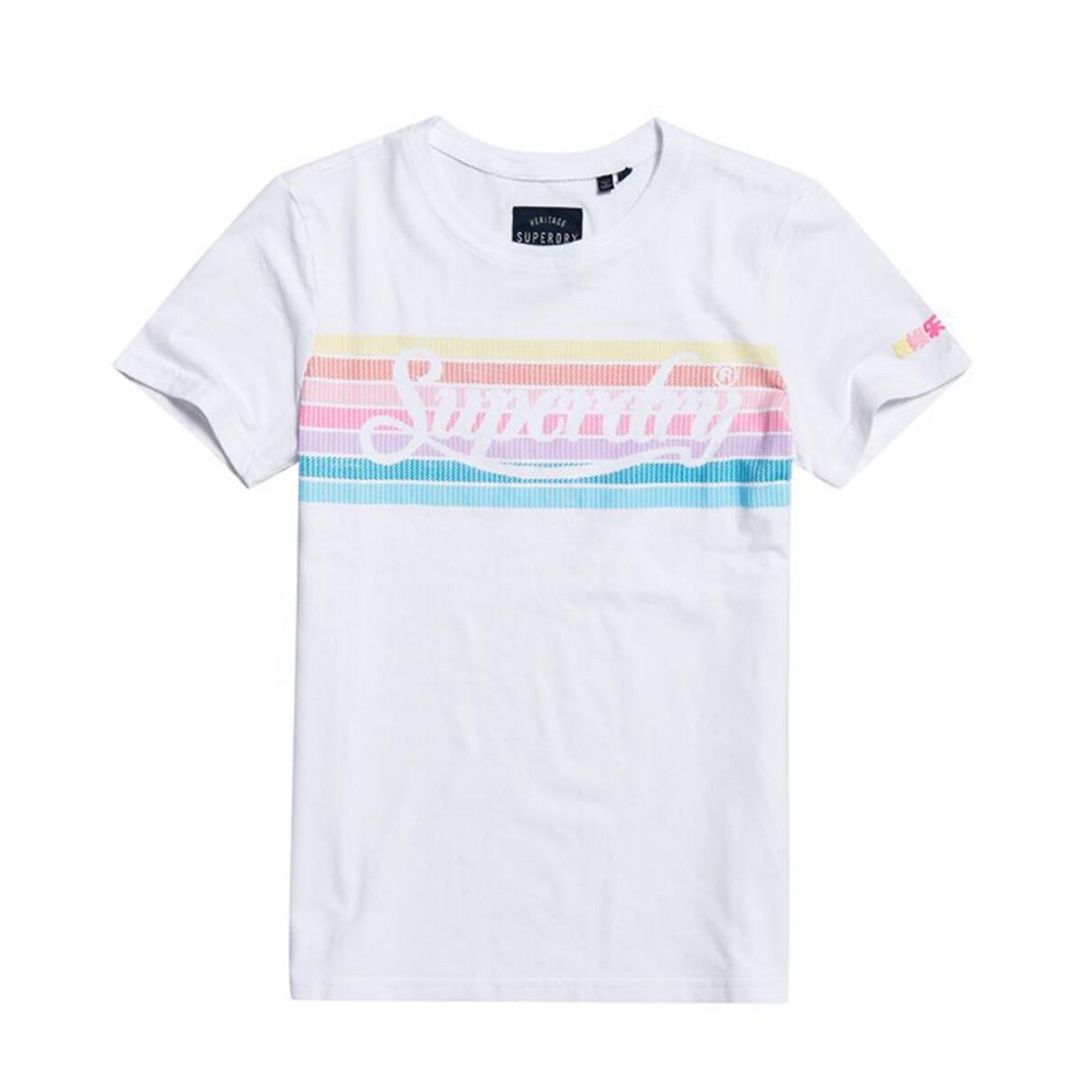 Camiseta de manga corta con logotipo arcoíris