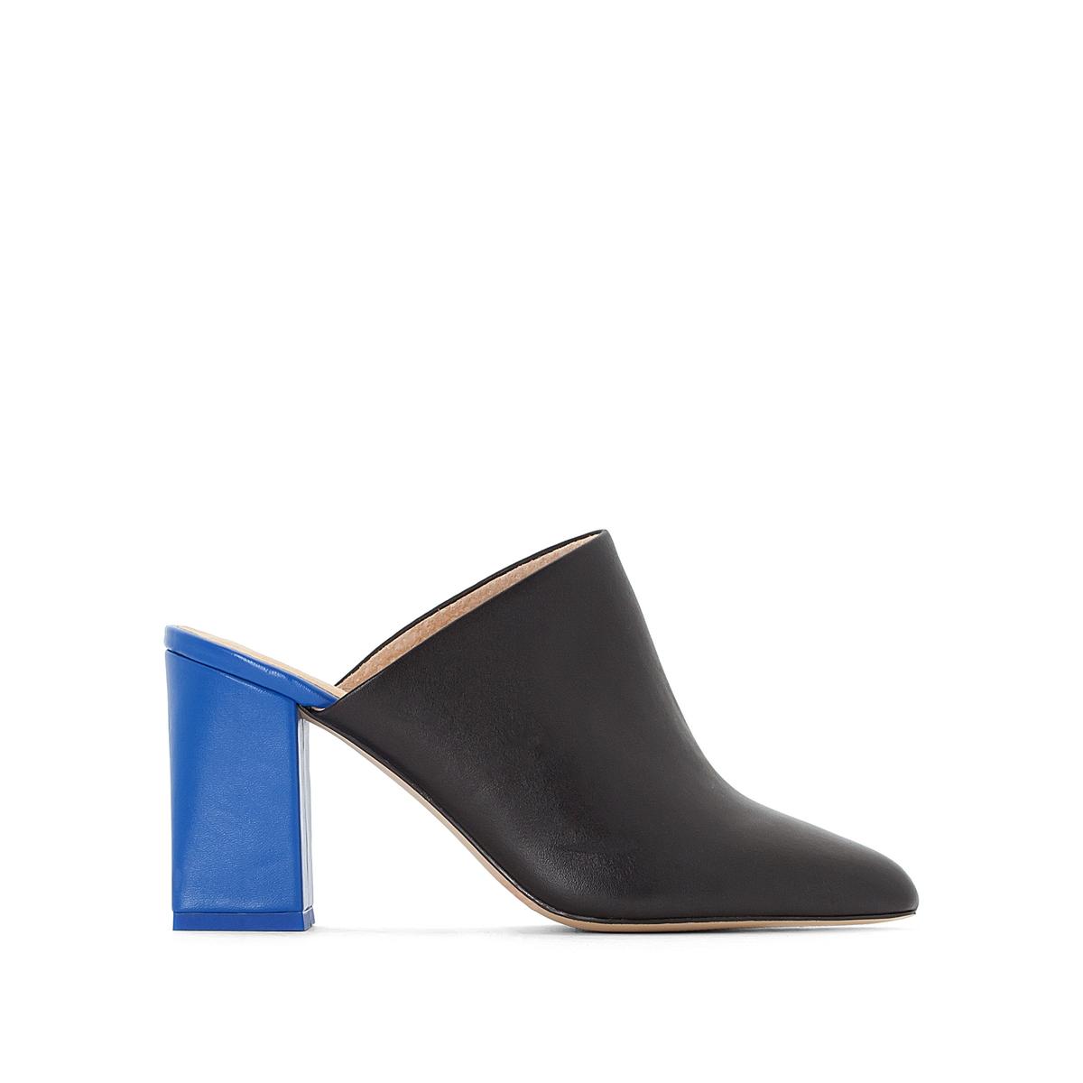 Туфли без задника кожаные на высоком каблуке цены онлайн