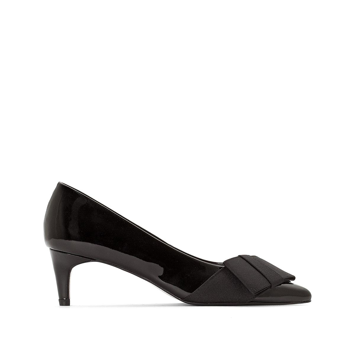 Туфли лакированные с оригинальным бантиком и заостренным мыском canali лакированные туфли